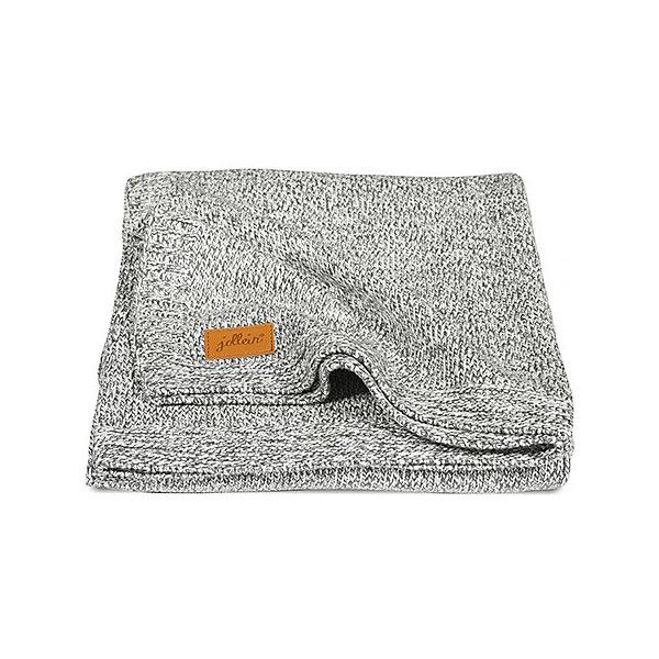 Вязаный плед 100х150 см, Jollein, Stonewashed knit grey