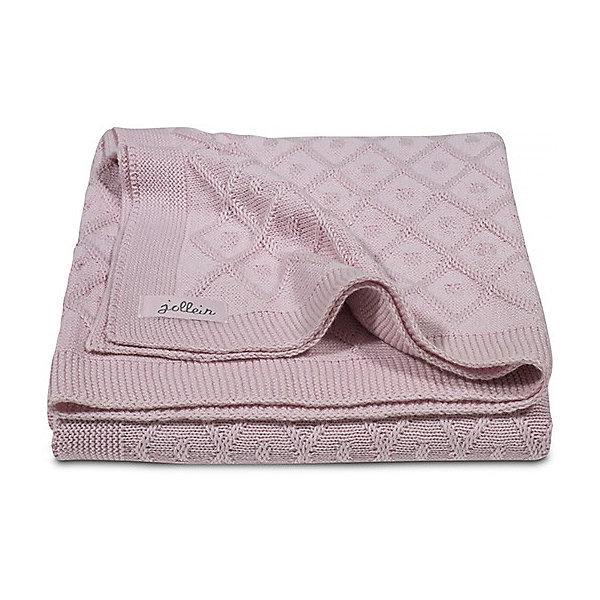 Вязаный плед 100х150 см, Jollein, Vintage pink