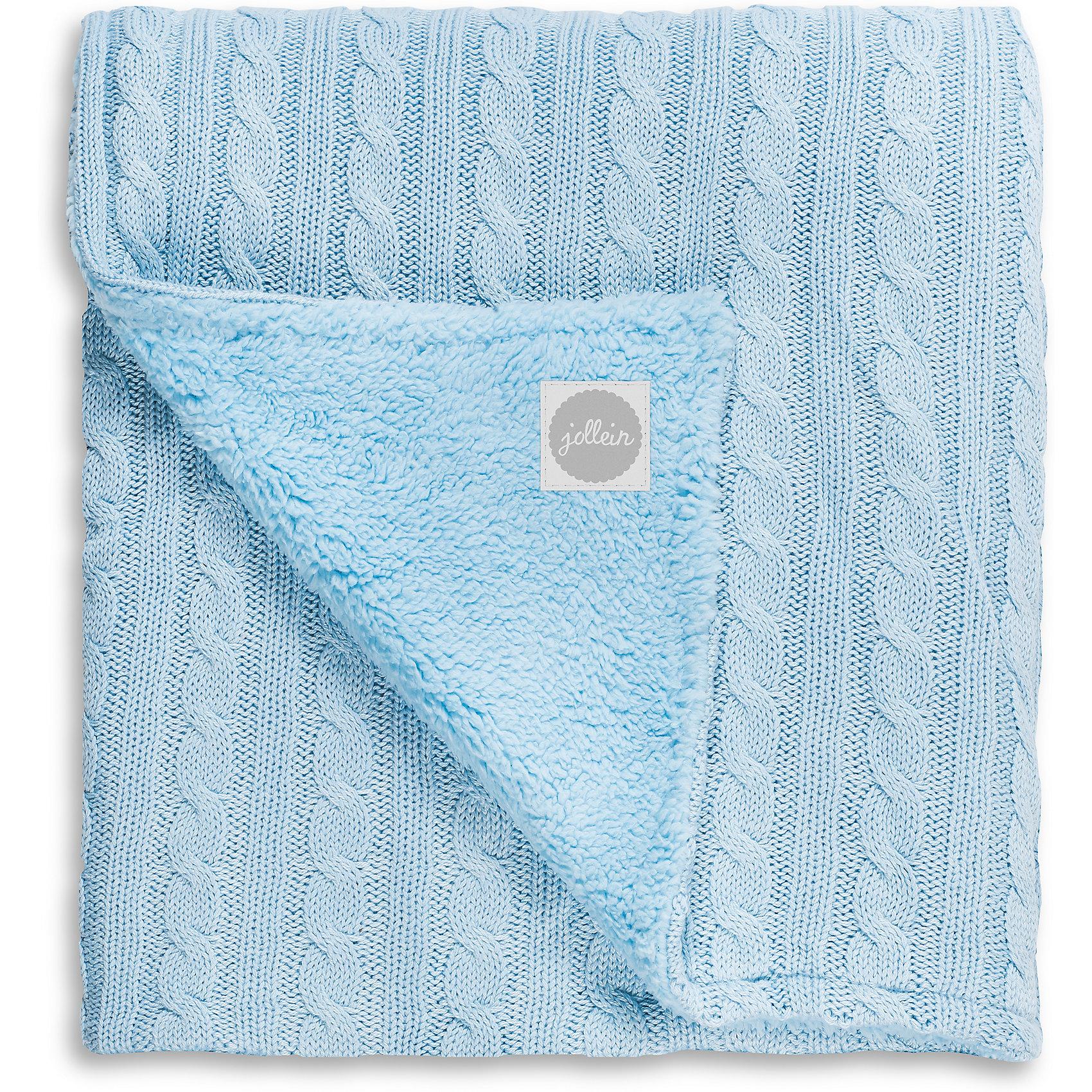 Вязаный плед (косичка) с мехом 100х150 см, Jollein, Light blueОдеяла, пледы<br>Характеристики:<br><br>• Предназначение: для сна<br>• Пол: для мальчика<br>• Сезон: круглый год<br>• Степень утепления: средняя<br>• Температурный режим: от +5? С<br>• Цвет: светло голубой<br>• Тематика рисунка: косы<br>• Материал: 50% хлопок, 50% акрил; утеплитель – мех шерпы, 100% полиэстер<br>• Размер (Ш*Д): 100*150 см<br>• Вес: 750 г<br>• Особенности ухода: машинная или ручная стирка при температуре не более 40 градусов<br><br>Вязаный плед (косичка) с мехом 100х150 см, Jollein, Light blue от торговой марки Жолляйн, которая является признанным лидером среди аналогичных брендов, выпускающих детское постельное белье и текстиль для новорожденных и детей. Продукция этого торгового бренда отличается высоким качеством и дизайнерским стилем. <br><br>Плед выполнен из вязаного полотна, выполненного из сочетания хлопка и акрила, что обеспечивает изделию высокие гигиенические, гигроскопические и гипоаллергенные качества. Благодаря акрилу плед хорошо сохраняет цвет и форму. Повышенные тепловые качества изделию обеспечивает мех шерпы, который отличается мягкостью, гипоаллергенностью и в процессе эксплуатации не электризуется. <br><br>Плед выполнен в классическом дизайне: вязаное полотно с косами и рельефными дорожками. Вязаный плед (косичка) с мехом 100х150 см, Jollein, Light blue – это плед, который подарит тепло и уют в любое время года!<br><br>Вязаный плед (косичка) с мехом 100х150 см, Jollein, Light blue можно купить в нашем интернет-магазине.<br><br>Ширина мм: 260<br>Глубина мм: 320<br>Высота мм: 100<br>Вес г: 1010<br>Возраст от месяцев: 0<br>Возраст до месяцев: 36<br>Пол: Мужской<br>Возраст: Детский<br>SKU: 5367181
