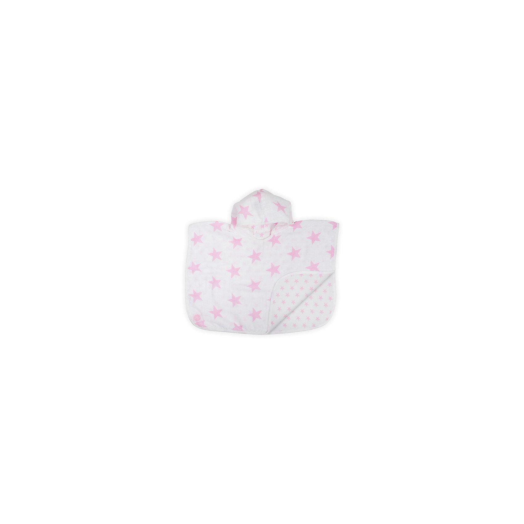 Муслиновое полотенце-пончо 45х60 см, Jollein, Little star pinkДвухстороннее полотенце-пончо для малышей выполнено из двух слоев муслина. Предназначено для малышей с 6 месяцев. Муслиновое полотенце пончо имеет больше преимуществ, чем махровое. <br>Очень мягкое, легкое, с каждой стиркой становится все мягче и мягче. Быстро сохнет, занимает мало места в сумке. Можно использовать нет только как полотенце, но и как защиту от солнца.<br><br>Ширина мм: 260<br>Глубина мм: 260<br>Высота мм: 30<br>Вес г: 300<br>Возраст от месяцев: 0<br>Возраст до месяцев: 36<br>Пол: Унисекс<br>Возраст: Детский<br>SKU: 5367194