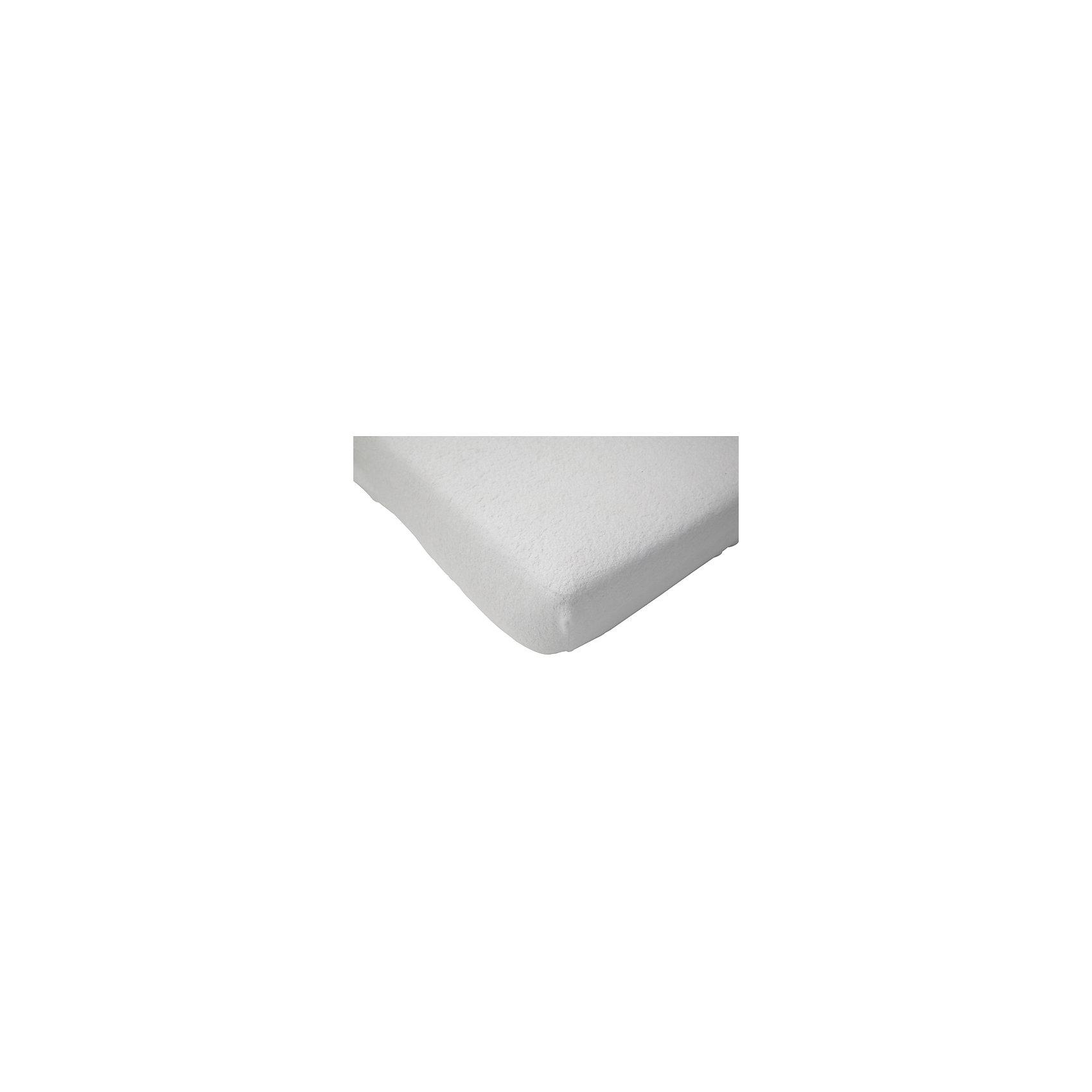 Непромокаемая простыня на резинке 60х120 см, Jollein, WhiteХарактеристики:<br><br>• Вид детского текстиля: непромокаемая простыня<br>• Предназначение: для хранения защиты матраса и поверхностей от промокания, для проведения гигиенических процедур и массажа<br>• Пол: универсальный<br>• Цвет: белый<br>• Тематика рисунка: без рисунка<br>• Материал: хлопок с полиуретановым покрытием<br>• Размер: 60*120 см<br>• Вес: 180 г<br>• Особенности ухода: машинная или ручная стирка при температуре не более 40 градусов, запрещается гладить<br><br>Непромокаемая простыня на резинке 60х120 см, Jollein, White от торговой марки Жолляйн, которая является признанным лидером среди аналогичных брендов, выпускающих детское постельное белье и текстиль для новорожденных. Продукция этого торгового бренда отличается высоким качеством и дизайнерским стилем. <br><br>Простыня выполнена из натурального хлопка с полиуретановым покрытием, которое защищает от протекания и соответственно от промокания матрасика или другой поверхности. Хлопок обеспечивает воздухопроницаемость и быстрое впитывание влаги. Изделие достаточно простое в уходе, на нем легко отстирываются любые загрязнения, быстро высыхает. Благодаря резинкам по периметру простыни она плотно садится на матрасик, не сбивается и не образует складок. <br><br>Непромокаемая простыня на резинке 60х120 см, Jollein, White подарит здоровый и спокойный сон вашему малышу и защитит матрасик от промоканий и загрязнений.<br><br>Непромокаемую простыню на резинке 60х120 см, Jollein, White можно купить в нашем интернет-магазине.<br><br>Ширина мм: 190<br>Глубина мм: 240<br>Высота мм: 45<br>Вес г: 285<br>Возраст от месяцев: 0<br>Возраст до месяцев: 36<br>Пол: Унисекс<br>Возраст: Детский<br>SKU: 5367201