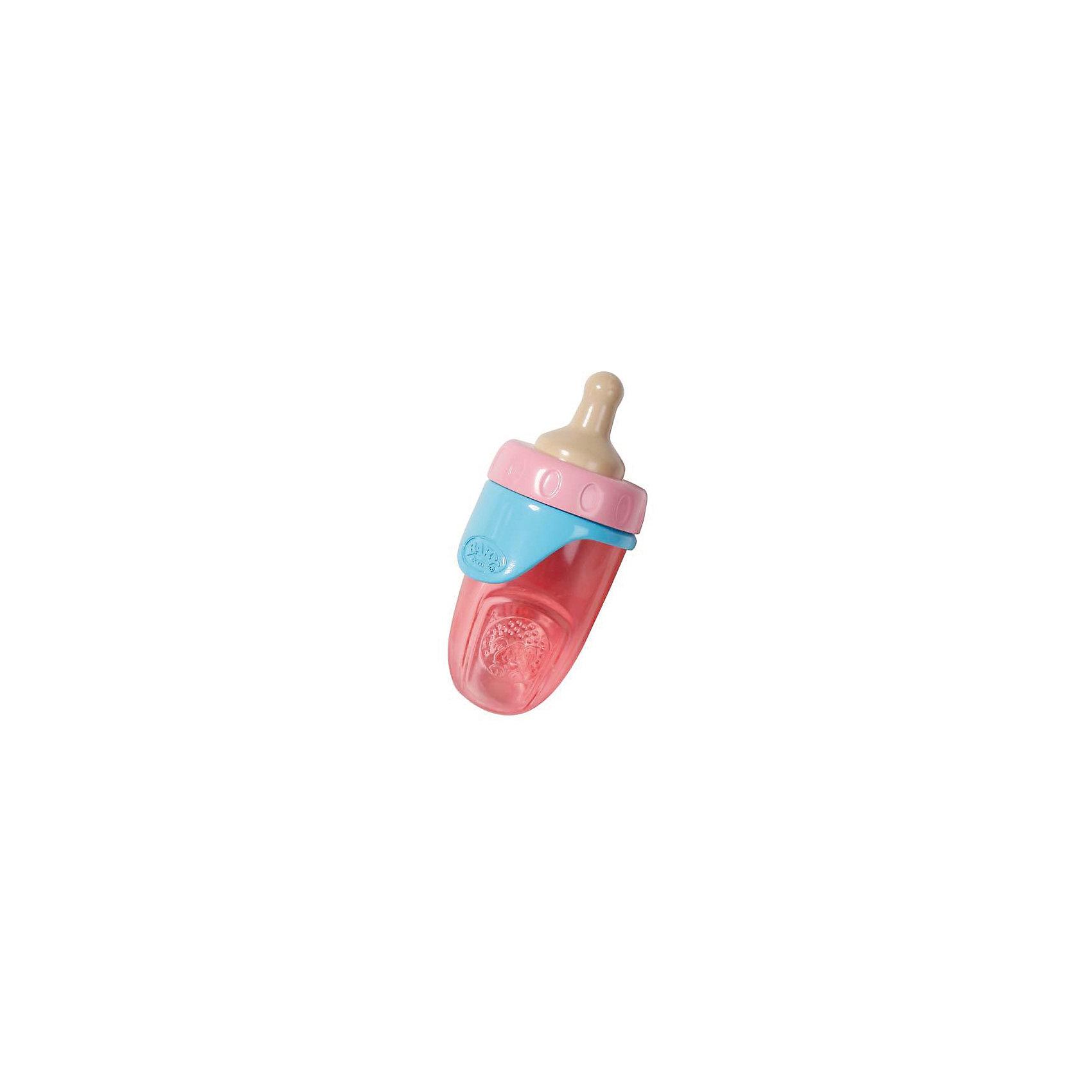 Бутылочка, розовая, BABY bornХарактеристики:<br><br>• Тип игрушки: аксессуары для кукол и пупсов<br>• Предназначение: для сюжетно-ролевых игр<br>• Для куклы: BABY born<br>• Тематика рисунка: без рисунка<br>• Материал: пластик <br>• Съемная соска<br>• Трансформируется в поильник<br>• Вес: 87 г<br>• Размеры упаковки (Д*В*Ш): 13*22*3 см<br>• Упаковка: блистер на картоне<br>• Особенности ухода: можно мыть в теплой мыльной воде<br><br>Бутылочка, розовая, BABY born от немецкого производителя Zapf Creation предназначена для кукол и пупсов серии BABY born. Бутылочка выполнена из высококачественного и нетоксичного пластика. Элементы аксессуара окрашены безопасными красками. Использованный пластик устойчив к ударам и появлениям царапин, при длительной эксплуатации цвет элементов не изменяется. <br><br>Форма бутылочки обтекаемая, у нее нет острых краев и углов, что делает ее безопасной для детских игр. При снятии соски бутылочка трансформируется в поильник, а имеющаяся на кольце ручка позволяет его удобно держать в руках.  Сюжетно-ролевые игры с аксессуарами для пупсов научат вашу девочку быть заботливой и внимательной.<br><br>Бутылочку, розовую, BABY born можно купить в нашем интернет-магазине.<br><br>Ширина мм: 130<br>Глубина мм: 220<br>Высота мм: 30<br>Вес г: 87<br>Возраст от месяцев: 36<br>Возраст до месяцев: 144<br>Пол: Женский<br>Возраст: Детский<br>SKU: 5377581
