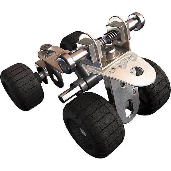 Базовая модель Квадрацикл, MeccanoМеталлические конструкторы<br>Характеристики товара:<br><br>• возраст: от 8 лет;<br>• материал: металл;<br>• в комплекте: 44 элемента, 2 инструмента, инструкция;<br>• размер упаковки: 12,5х12,5х4,5 см;<br>• вес упаковки: 115 гр.;<br>• страна производитель: Китай.<br><br>Базовая модель «Квадрацикл» Meccano — конструктор из металлических деталей. При помощи инструментов из деталей собирается объемная модель. <br><br>В процессе ребенок знакомится с принципами сборки конструктора, у него развивается мелкая моторика рук, усидчивость, логическое мышление, интеллект.<br><br>Базовую модель «Квадрацикл» Meccano можно приобрести в нашем интернет-магазине.<br><br>Ширина мм: 130<br>Глубина мм: 130<br>Высота мм: 40<br>Вес г: 143<br>Возраст от месяцев: 96<br>Возраст до месяцев: 2147483647<br>Пол: Мужской<br>Возраст: Детский<br>SKU: 5377745