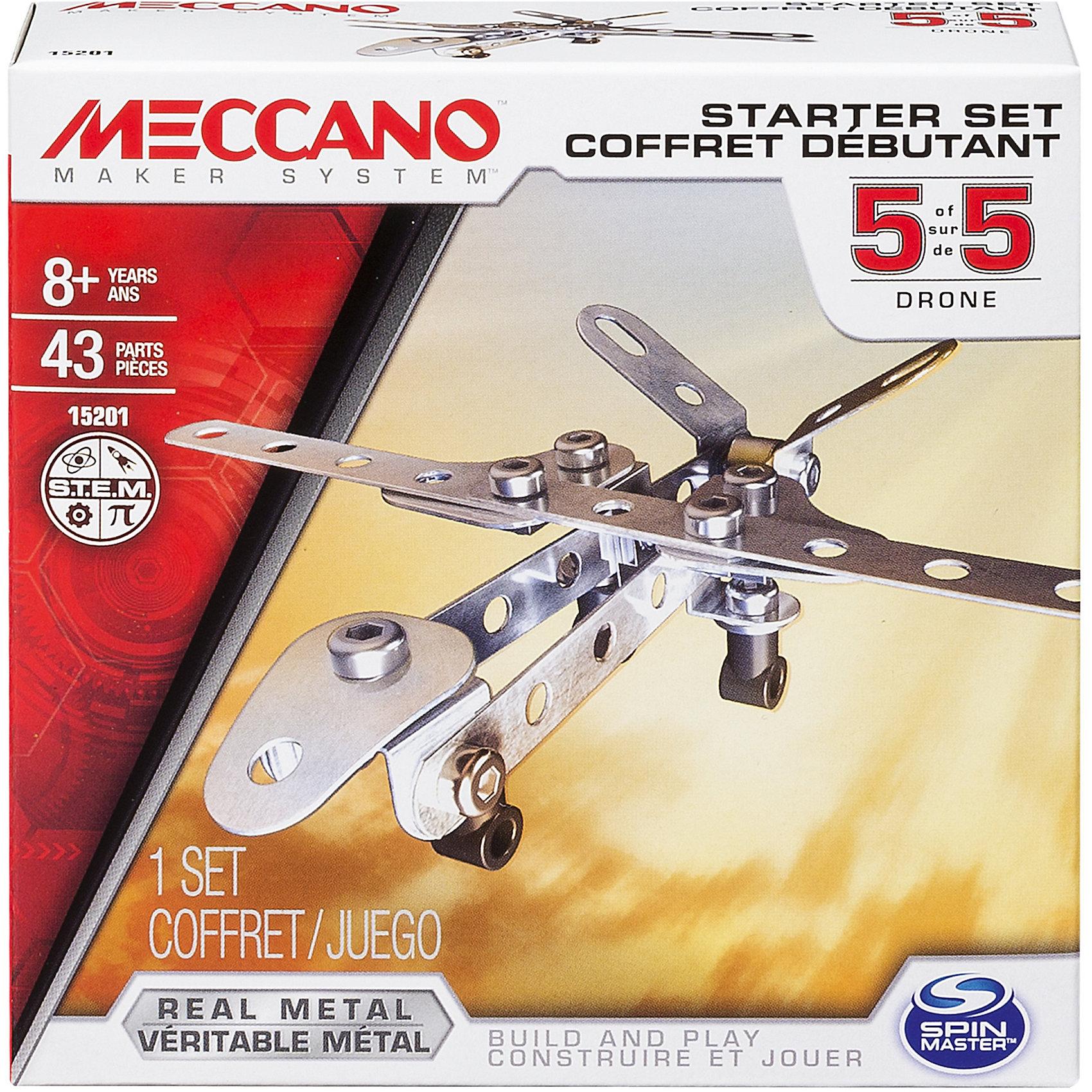 Базовая модель Дрон, MeccanoСамолёты и вертолёты<br><br><br>Ширина мм: 130<br>Глубина мм: 130<br>Высота мм: 40<br>Вес г: 143<br>Возраст от месяцев: 96<br>Возраст до месяцев: 144<br>Пол: Мужской<br>Возраст: Детский<br>SKU: 5377746