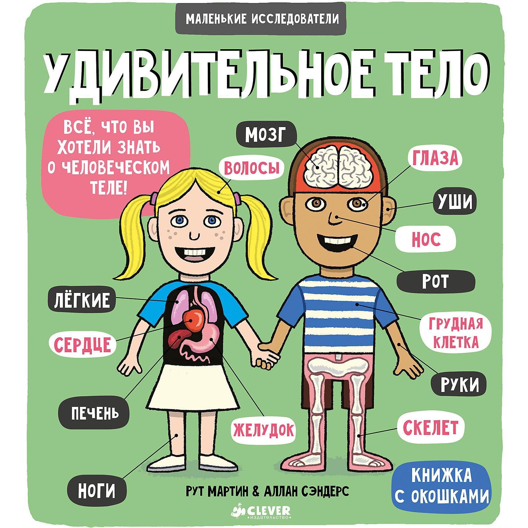 Книжка с клапанами Удивительное тело, Маленькие исследователиВнимание, маленькие исследователи! Хотите узнать о своем теле? Почему все разные, до какого возраста растут волосы, как устроен мозг - ответы на эти и многие другие вопросы вы найдете в этой удивительной книге! Твой мозг. Открой, как устроен мозг и как связаны с ним органы чувств. Пищеварение. Узнай, как пища превращается в энергию, необходимую для жизни. Мое тело. Следуй советам, как сохранить свое тело здоровым как можно дольше.<br><br>Ширина мм: 220<br>Глубина мм: 200<br>Высота мм: 80<br>Вес г: 195<br>Возраст от месяцев: 48<br>Возраст до месяцев: 72<br>Пол: Унисекс<br>Возраст: Детский<br>SKU: 5377788