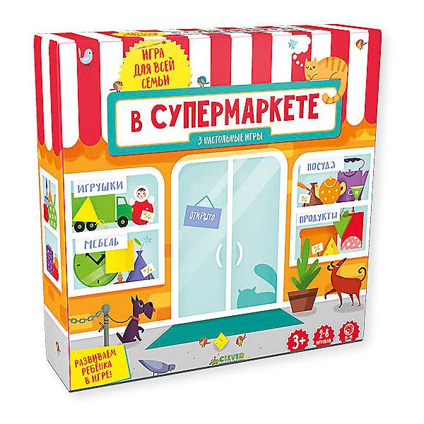 В супермаркете, Время играть!Основная коллекция<br>В супермаркете, Время играть!<br><br>Характеристики:<br><br>- Автор: Баканова Е.<br>- Масса: 294 г;<br>- Размеры: 220x218x9 мм.<br>- В наборе: коробка,24карточки.<br><br>Каждый поход в супермаркет может стать увлекательным приключением! Вас ждут весёлые викторины, грандиозные акции и распродажи, а также полные тележки самых разных товаров. Скорее начинайте играть! Выбирайте 3 игры разных уровней сложности, а также 24 карточки с заданиями и вопросами, которые вы можете взять с собой на прогулку или в поездку, чтобы занять ребёнка в любом месте.<br><br>В супермаркете, Время играть!, можно купить в нашем интернет – магазине.<br><br>Ширина мм: 200<br>Глубина мм: 200<br>Высота мм: 5<br>Вес г: 950<br>Возраст от месяцев: 84<br>Возраст до месяцев: 132<br>Пол: Унисекс<br>Возраст: Детский<br>SKU: 5377880