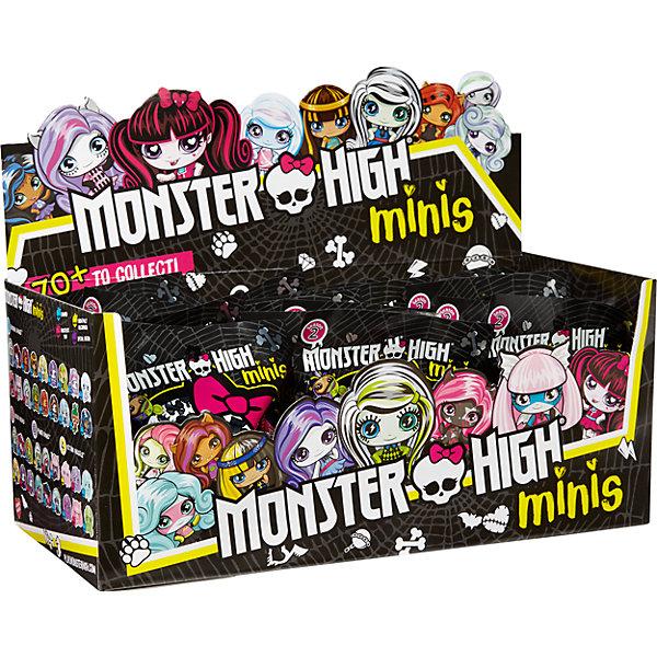 Мини фигурка, Monster High, в закрытой упаковкеКоллекционные и игровые фигурки<br>Мини фигурка, Monster High (Монстр Хай), в ассортименте.<br><br>Характеристика:<br><br>• Материал: пластик.     <br>• Размер фигурки: 3,8 см. <br>• Подвижная голова. <br>• Оригинальный дизайн. <br>• Реалистично раскрашена. <br><br>ВНИМАНИЕ! Данный артикул представлен в разных вариантах исполнения. К сожалению, заранее выбрать определенный вариант невозможно. При заказе нескольких фигурок возможно получение одинаковых.<br><br>Эти маленькие фигурки приведут в восторг всех поклонников мультсериала Школа Монстров! Яркие фигурки любимых персонажей совсем маленькие, но при этом отлично детализированы и узнаваемы. Игрушки изготовлены из высококачественного прочного пластика, выполнены в оригинальном дизайне. Собери всю коллекцию малюток Monster High!<br><br>Мини фигурку, Monster High (Монстр Хай), в ассортименте, можно купить в нашем интернет-магазине.<br><br>Ширина мм: 115<br>Глубина мм: 40<br>Высота мм: 125<br>Вес г: 27<br>Возраст от месяцев: 72<br>Возраст до месяцев: 144<br>Пол: Женский<br>Возраст: Детский<br>SKU: 5378165