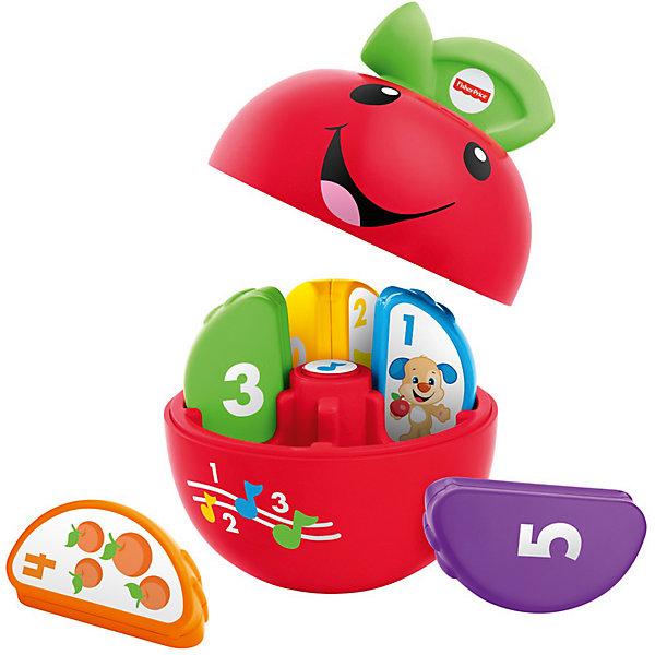 Сортер Смейся и учись - Умное яблочко (звук)Развивающие игрушки<br>Характеристики товара:<br><br>• комплектация: игрушка, упаковка <br>• материал: пластик<br>• серия: Смейся и учись<br>• тип батареек: 1 x AA / LR6 1.5V (пальчиковые)<br>• наличие батареек: входят в комплект<br>• возраст: от 6 месяцев<br>• для мальчиков и девочек<br>• габариты упаковки: 21x21х13 см<br>• вес: 0.625 кг.<br>• страна бренда: США<br><br>Яблочко – уникальная игрушка, помогающая молодым родителям с ранним развитием малыша. У яблочка 5 долек, на каждой из которых есть цифры и рисунки. Игрушка обладает звуковыми эффектами. Стоит отметить, что все товары, выпускаемые компанией Mattel, полностью безопасны для ребенка и соответствуют международным  требованиям по качеству материалов. <br><br>Игрушку Обучающая игрушка Яблочко из серии Смейся и учись, Fisher Price можно приобрести в нашем интернет-магазине.<br><br>Ширина мм: 205<br>Глубина мм: 125<br>Высота мм: 205<br>Вес г: 625<br>Возраст от месяцев: 6<br>Возраст до месяцев: 36<br>Пол: Унисекс<br>Возраст: Детский<br>SKU: 5378267