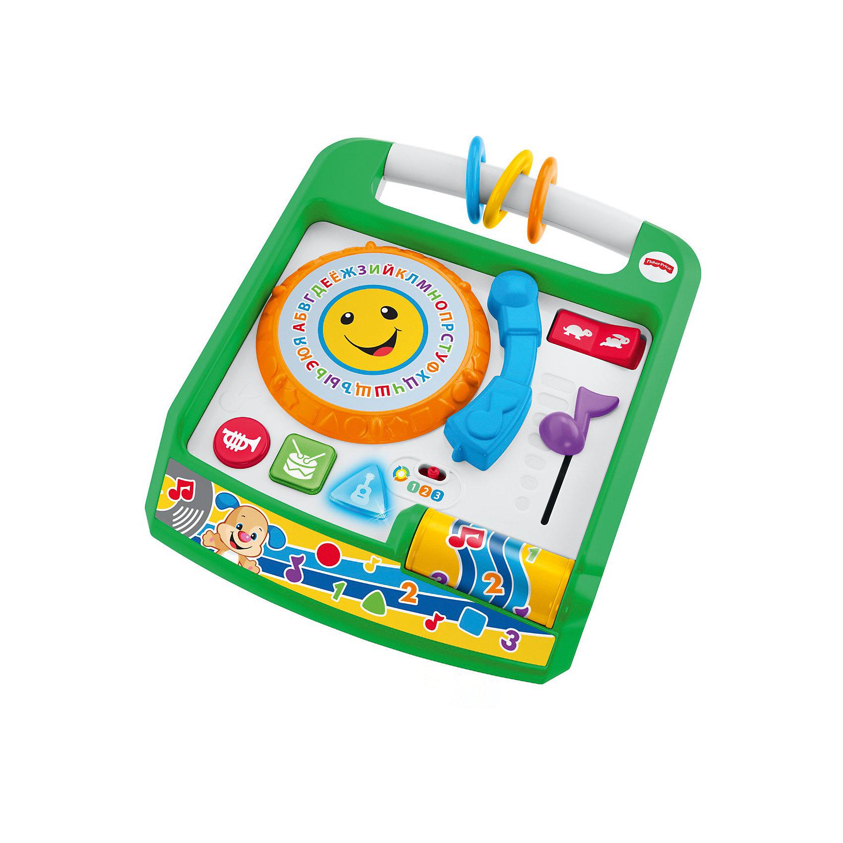 Музыкальная панель Ученого Щенка из серии Смейся и учись, Fisher PriceИнтерактивные игрушки для малышей<br>Характеристики товара:<br><br>• возраст: от 6 месяцев;<br>• материал: пластик;<br>• тип батареек: 3 батарейки АА;<br>• наличие батареек: демонстрационные в комплекте;<br>• размер упаковки: 33х30х10 см;<br>• вес упаковки: 1,11 кг;<br>• страна производитель: Китай.<br><br>Развивающая игрушка «Смейся и учись. Музыкальная панель Ученого Щенка» Fisher Price — увлекательная развивающая игрушка для детей от 6 месяцев, которая включает в себя 7 игр и 65 разнообразных мелодий. С ее помощью малыш выучит цвета, цифры, новые слова, понятие формы. Игрушка поспособствует развитию мелкой моторики рук, тактильных ощущений, музыкального слуха, логического мышления.<br><br>В зависимости от возраста предусмотрено 3 уровня сложности. Игрушка выполнена из качественного безопасного пластика и не имеет острых элементов.<br><br>Развивающую игрушку «Смейся и учись. Музыкальная панель Ученого Щенка» Fisher Price можно приобрести в нашем интернет-магазине.<br><br>Ширина мм: 290<br>Глубина мм: 90<br>Высота мм: 330<br>Вес г: 1329<br>Возраст от месяцев: 6<br>Возраст до месяцев: 2147483647<br>Пол: Унисекс<br>Возраст: Детский<br>SKU: 5378268