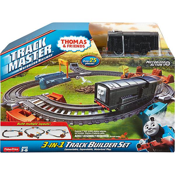 Железная дорога 3 в 1 Томас и его друзья (движение)Железные дороги<br>Характеристики товара:<br><br>• возраст: от 3-х лет<br>• материал: пластик<br>• тип батареек: 2 х AAA / LR0.3 1.5 (мизинчиковые)<br>• наличие батареек: не входят в комплект<br>• количество деталей: 25 шт<br>• серия: Fisher Price<br>• герой: Томас и его друзья<br>• габариты игрушки: 27x8х36 см<br>• вес: 0,75 кг<br>• страна бренда: США<br><br>Железная дорога – одна из любимых игр для всех малышей. Построение дороги с помощью этой игрушки превратится в увлекательное занятие, так как у игрушки есть 3 варианта установки. Стоит отметить, что все товары, выпускаемые компанией Mattel, полностью безопасны для ребенка и соответствуют международным  требованиям по качеству материалов. <br><br>Игрушку Набор для построения железной дороги 3-в-1, Томас и его друзья» можно приобрести в нашем интернет-магазине.<br><br>Ширина мм: 355<br>Глубина мм: 75<br>Высота мм: 270<br>Вес г: 715<br>Возраст от месяцев: 36<br>Возраст до месяцев: 120<br>Пол: Мужской<br>Возраст: Детский<br>SKU: 5378272