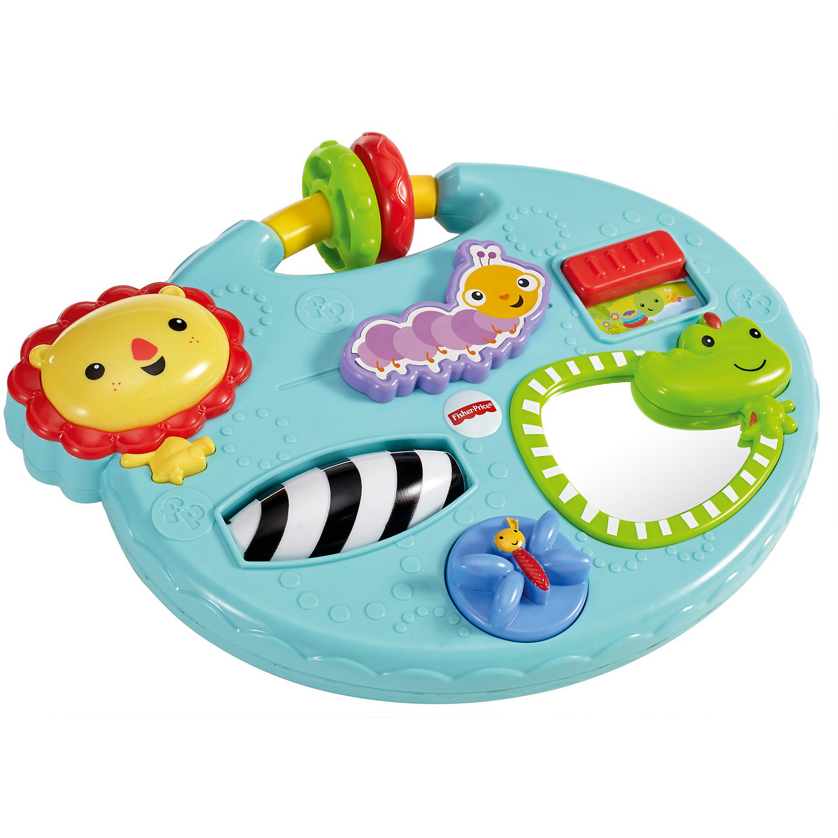 Игровой мини-центр Fisher Price Друзья из тропического лесаРазвивающие игрушки<br>Характеристики товара:<br><br>• возраст: от 6 месяцев;<br>• материал: пластик;<br>• размер игрушки: 28х24 см;<br>• размер упаковки: 28,5х24,5х5,5 см;<br>• вес упаковки: 500 гр.;<br>• страна производитель: Китай.<br><br>Игровой мини-центр «Друзья из тропического леса» Fisher Price — увлекательная развивающая игрушка для малышей, которая способствует развитию мелкой моторики рук, логического мышления, тактильных ощущений. На игровой панели расположены зеркало, вращающийся валик, бусины. С ее помощью ребенок выучит формы, цвета и названия животных. Игрушка изготовлена из качественного безвредного пластика.<br><br>Игровой мини-центр «Друзья из тропического леса» Fisher Price можно приобрести в нашем интернет-магазине.<br><br>Ширина мм: 285<br>Глубина мм: 55<br>Высота мм: 245<br>Вес г: 549<br>Возраст от месяцев: 6<br>Возраст до месяцев: 2147483647<br>Пол: Унисекс<br>Возраст: Детский<br>SKU: 5378291