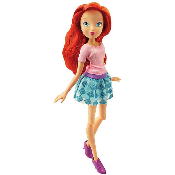 Кукла Городская магия - Блум, Winx ClubКуклы<br>Характеристики товара:<br><br>• возраст: от 3 лет;<br>• материал: пластик, текстиль;<br>• в комплекте: кукла, наряд, крылья;<br>• высота куклы: 26 см;<br>• размер упаковки: 35х20х6 см;<br>• вес упаковки: 215 гр.;<br>• страна производитель: Китай.<br><br>Кукла Блум «Городская магия» Winx Club создана по мотивам известного мультсериала «Клуб Винкс: Школа волшебниц» про очаровательных фей-волшебниц. Блум — главная героиня мультфильма, основательница Клуба Винкс. Блум любит смотреть комедии, читать книги о магии и общаться с друзьями.<br><br>У феи голубые выразительные глаза и мягкие огненно-рыжие волосы, которые можно расчесывать, заплетать и украшать. Одета Блум в розовый топ и голубую юбку. У куклы несколько точек артикуляции. Руки сгибаются в локтях и плечах, ноги в бедрах и коленях. В комплекте крылышки для девочки на резинке, которые позволят ей придумать себе волшебный образ на праздник или день рождение. <br><br>Куклу Блум «Городская магия» Winx Club можно приобрести в нашем интернет-магазине.<br>Ширина мм: 190; Глубина мм: 320; Высота мм: 60; Вес г: 256; Возраст от месяцев: 36; Возраст до месяцев: 2147483647; Пол: Женский; Возраст: Детский; SKU: 5383944;