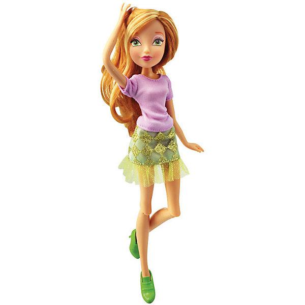 Кукла Городская магия - Флора, Winx ClubКуклы<br>Характеристики товара:<br><br>• возраст: от 3 лет;<br>• материал: пластик, текстиль;<br>• в комплекте: кукла, наряд;<br>• высота куклы: 26 см;<br>• размер упаковки: 35х20х6 см;<br>• вес упаковки: 215 гр.;<br>• страна производитель: Китай.<br><br>Кукла Флора «Городская магия» Winx Club создана по мотивам известного мультсериала «Клуб Винкс: Школа волшебниц» про очаровательных фей-волшебниц. Флора любит выращивать растения и цветы и варить зелье для них. Вся ее комната усыпана разнообразными цветочками. Она общительна и с удовольствием приглашает в гости свою подружку Лейлу.<br><br>У феи выразительные зеленые глаза и светлые волосы, которые можно расчесывать, заплетать и украшать. Одета Флора в розовый топ, зеленую юбку и туфельки. У куклы несколько точек артикуляции. Руки сгибаются в локтях и плечах, ноги в бедрах и коленях. <br><br>Куклу Флору «Городская магия» Winx Club можно приобрести в нашем интернет-магазине.<br><br>Ширина мм: 190<br>Глубина мм: 320<br>Высота мм: 60<br>Вес г: 256<br>Возраст от месяцев: 36<br>Возраст до месяцев: 2147483647<br>Пол: Женский<br>Возраст: Детский<br>SKU: 5383945