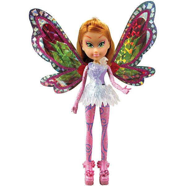 Мини-фигурки Тайникс - Флора, Winx ClubКуклы<br>Характеристики товара:<br><br>• возраст: от 3 лет;<br>• материал: пластик, текстиль;<br>• в комплекте: кукла, платье, крылья, подставка;<br>• высота куклы: 12 см;<br>• размер упаковки: 23х18х6 см;<br>• вес упаковки: 85 гр.;<br>• страна производитель: Китай.<br><br>Мини-фигурка Флора «Тайникс» Winx Club создана по мотивам известного мультсериала «Клуб Винкс: Школа волшебниц» про очаровательных фей-волшебниц. Флора любит выращивать растения и цветы и варить зелье для них. Вся ее комната усыпана разнообразными цветочками. Она общительна и с удовольствием приглашает в гости свою подружку Лейлу.<br><br>При помощи магии Тайникс феи научились уменьшаться в размере, чтобы путешествовать в мини-миры. У феи выразительные зеленые глаза и светлые волосы. За спиной куклы разноцветные крылышки, которые переливаются и порхают.<br><br>Мини-фигурку Флору «Тайникс» Winx Club можно приобрести в нашем интернет-магазине.<br>Ширина мм: 80; Глубина мм: 210; Высота мм: 50; Вес г: 120; Возраст от месяцев: 36; Возраст до месяцев: 2147483647; Пол: Женский; Возраст: Детский; SKU: 5383947;