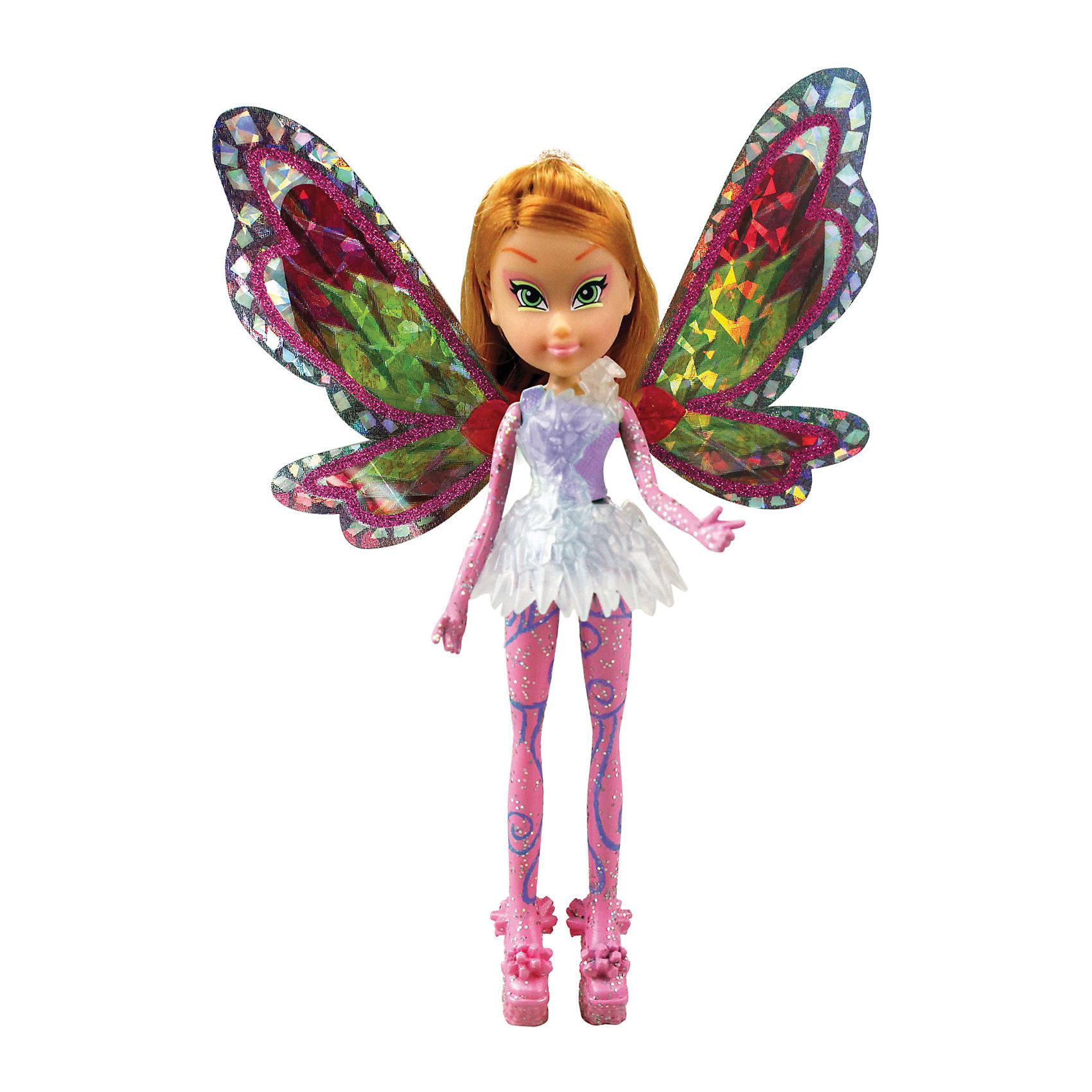 Мини-фигурки Тайникс - Флора, Winx ClubБренды кукол<br>Характеристики товара:<br><br>• возраст: от 3 лет;<br>• материал: пластик, текстиль;<br>• в комплекте: кукла, платье, крылья, подставка;<br>• высота куклы: 12 см;<br>• размер упаковки: 23х18х6 см;<br>• вес упаковки: 85 гр.;<br>• страна производитель: Китай.<br><br>Мини-фигурка Флора «Тайникс» Winx Club создана по мотивам известного мультсериала «Клуб Винкс: Школа волшебниц» про очаровательных фей-волшебниц. Флора любит выращивать растения и цветы и варить зелье для них. Вся ее комната усыпана разнообразными цветочками. Она общительна и с удовольствием приглашает в гости свою подружку Лейлу.<br><br>При помощи магии Тайникс феи научились уменьшаться в размере, чтобы путешествовать в мини-миры. У феи выразительные зеленые глаза и светлые волосы. За спиной куклы разноцветные крылышки, которые переливаются и порхают.<br><br>Мини-фигурку Флору «Тайникс» Winx Club можно приобрести в нашем интернет-магазине.<br><br>Ширина мм: 80<br>Глубина мм: 210<br>Высота мм: 50<br>Вес г: 120<br>Возраст от месяцев: 36<br>Возраст до месяцев: 2147483647<br>Пол: Женский<br>Возраст: Детский<br>SKU: 5383947