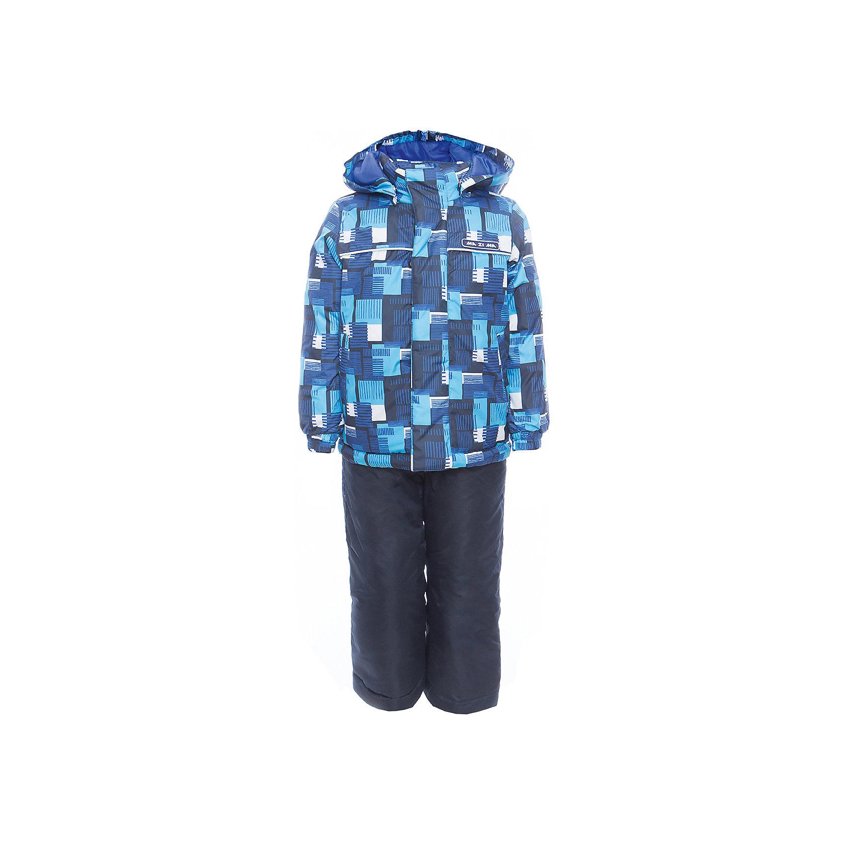 Комплект: куртка и полукомбинезон для мальчика Ma-Zi-MaВерхняя одежда<br>Характеристики товара:<br><br>• цвет: синий<br>• состав: верх - 100% полиэстер с водоотталкивающей пропиткой 3000г/м2/24H<br>•подкладка - тафетта, трикотаж с ворсом на воротнике и в капюшоне, •утеплитель - полиэстер, в куртке 120 г/м2,  в брюках 80 г/м2<br>• комплектация: куртка и полукомбинезон<br>• декорирован принтом<br>• температурный режим: от -5° С до +10° С<br>• водонепроницаемый материал<br>• съемный капюшон<br>• брюки с резинкой на талии<br>•манжеты с эластичной резинкой<br>•ветрозащитная планк<br>• комфортная посадка<br>• светоотражающие элементы<br>• молния<br>• демисезонный<br>• страна бренда: Россия<br><br>Одежда от российского бренда Ma-Zi-Ma, разработанная совместно с канадскими специалистами. , пользуется популярностью у покупателей. Она стильная, качественные и удобная. Для производства продукции используются только безопасные, проверенные материалы и фурнитура. Порадуйте ребенка модными и красивыми вещами от Ma-Zi-Ma! <br><br>Комплект: куртка и полукомбинезон для мальчика от известного бренда Ma-Zi-Ma можно купить в нашем интернет-магазине.<br><br>Ширина мм: 356<br>Глубина мм: 10<br>Высота мм: 245<br>Вес г: 519<br>Цвет: синий<br>Возраст от месяцев: 132<br>Возраст до месяцев: 144<br>Пол: Мужской<br>Возраст: Детский<br>Размер: 152,92,98,104,110,116,122,128,134,140,146<br>SKU: 5383975