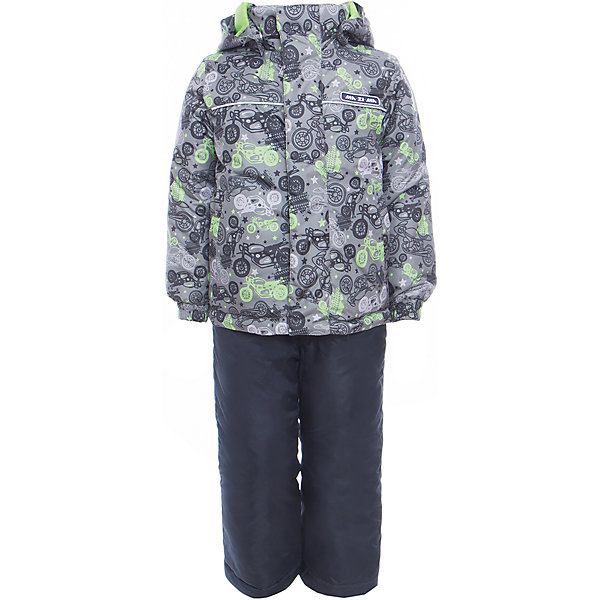 Комплект: куртка и полукомбинезон для мальчика Ma-Zi-MaВерхняя одежда<br>Характеристики товара:<br><br>• цвет: серый<br>• состав: верх - 100% полиэстер с водоотталкивающей пропиткой 3000г/м2/24H<br>• подкладка - тафетта, трикотаж с ворсом на воротнике и в капюшоне<br>• утеплитель - полиэстер, в куртке 120 г/м2,  в брюках 80 г/м2<br>• комплектация: куртка и полукомбинезон<br>• температурный режим: от -5° С до +10° С<br>• водонепроницаемый материал<br>• съемный капюшон<br>• брюки с резинкой на талии<br>• манжеты с эластичной резинкой<br>• ветрозащитная планк<br>• комфортная посадка<br>• светоотражающие элементы<br>• молния<br>• демисезонный<br>• страна бренда: Россия<br><br>Одежда от российского бренда Ma-Zi-Ma, разработанная совместно с канадскими специалистами. , пользуется популярностью у покупателей. Она стильная, качественные и удобная. Для производства продукции используются только безопасные, проверенные материалы и фурнитура. Порадуйте ребенка модными и красивыми вещами от Ma-Zi-Ma! <br><br>Комплект: куртка и полукомбинезон для мальчика от известного бренда Ma-Zi-Ma можно купить в нашем интернет-магазине.<br><br>Ширина мм: 356<br>Глубина мм: 10<br>Высота мм: 245<br>Вес г: 519<br>Цвет: серый<br>Возраст от месяцев: 18<br>Возраст до месяцев: 24<br>Пол: Мужской<br>Возраст: Детский<br>Размер: 92,152,146,140,134,128,122,116,110,104,98<br>SKU: 5383987