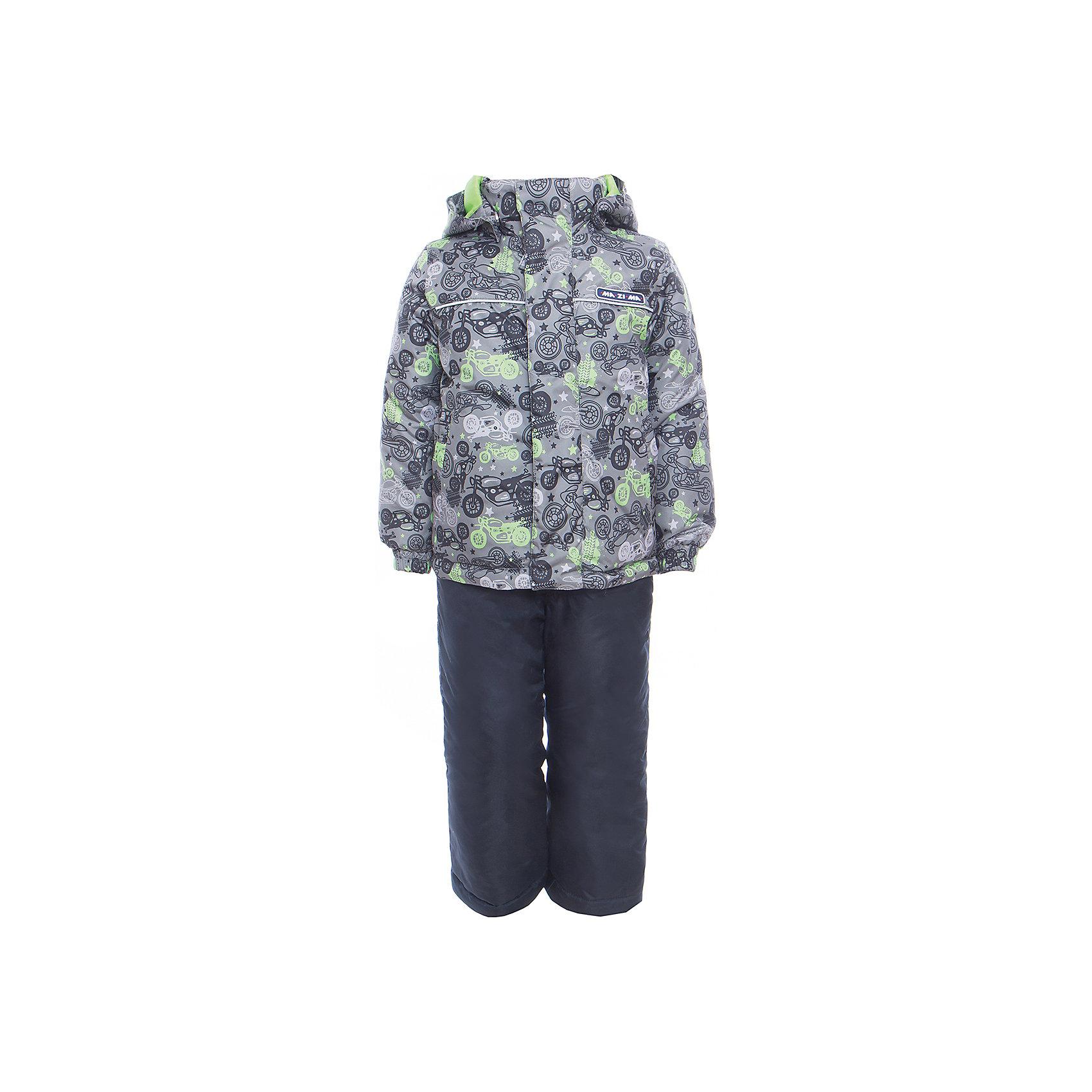 Комплект: куртка и полукомбинезон для мальчика Ma-Zi-MaВерхняя одежда<br>Характеристики товара:<br><br>• цвет: серый<br>• состав: верх - 100% полиэстер с водоотталкивающей пропиткой 3000г/м2/24H<br>• подкладка - тафетта, трикотаж с ворсом на воротнике и в капюшоне<br>• утеплитель - полиэстер, в куртке 120 г/м2,  в брюках 80 г/м2<br>• комплектация: куртка и полукомбинезон<br>• температурный режим: от -5° С до +10° С<br>• водонепроницаемый материал<br>• съемный капюшон<br>• брюки с резинкой на талии<br>• манжеты с эластичной резинкой<br>• ветрозащитная планк<br>• комфортная посадка<br>• светоотражающие элементы<br>• молния<br>• демисезонный<br>• страна бренда: Россия<br><br>Одежда от российского бренда Ma-Zi-Ma, разработанная совместно с канадскими специалистами. , пользуется популярностью у покупателей. Она стильная, качественные и удобная. Для производства продукции используются только безопасные, проверенные материалы и фурнитура. Порадуйте ребенка модными и красивыми вещами от Ma-Zi-Ma! <br><br>Комплект: куртка и полукомбинезон для мальчика от известного бренда Ma-Zi-Ma можно купить в нашем интернет-магазине.<br><br>Ширина мм: 356<br>Глубина мм: 10<br>Высота мм: 245<br>Вес г: 519<br>Цвет: серый<br>Возраст от месяцев: 132<br>Возраст до месяцев: 144<br>Пол: Мужской<br>Возраст: Детский<br>Размер: 152,92,98,104,110,116,122,128,134,140,146<br>SKU: 5383987