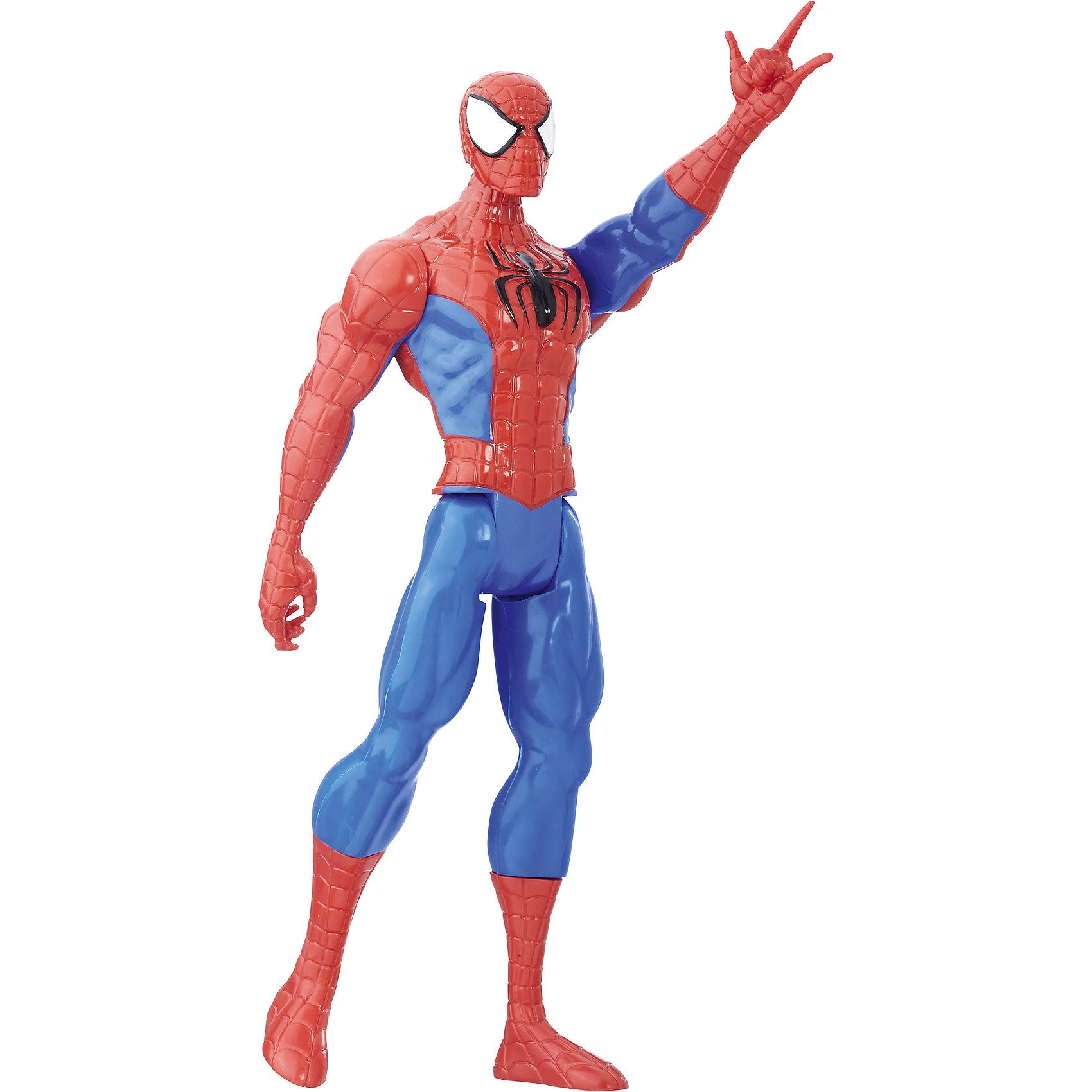 Фигурка Титаны: Человек-Паук, МстителиФигурка Титаны: Человек-Паук, Мстители<br><br>Характеристики:<br><br>- в набор входит: одна фигурка Человека-паука в упаковке<br>- состав: пластик<br>- высота фигурки: 30 см.<br>- размер упаковки: 30 * 5 * 10 см.<br>- для детей в возрасте: от 4 до 12 лет<br>- Страна производитель: Китай<br><br>Легендарные фигурки героев комиксов и фильмов Marvel (Марвел) от известной компании производства качественных игрушек Hasbro (Хасбро). Специальная серия Titan Hero (Герои-титаны) 2017 года собрала в себя только самый популярных героев и воплотила их в виде отличных фигурок с прекрасной детализацией. Фигурка этого набора – Человек-Паук, подросток Питер Паркер с суперспособостями. Ранее в комиксах подрости были только помощниками супергероев и Человек-паук стал одним из первых самостоятельных героев его возраста. <br><br>Большая фигурка отлично детализирована, его правая рука будто уже выпускает паутины чтобы побеждать врагов или цепляться за края зданий чтобы быстро передвигаться по городу. Красные части костюма детализированы под узор паутины и имеют рельефные выемки. Мощная мускулатура героя отлично видна на фигурке. Голова, руки и ноги героя поворачиваются, а так же можно поворачивать ноги в икрах. Соберите всю коллекцию легенд Марвел у себя дома и моделируйте разные сценки из комиксов и фильмов вместе с фигурками от Hasbro (Хасбро).<br><br>Фигурку Титаны: Человек-Паук, Мстители можно купить в нашем интернет-магазине.<br><br>Ширина мм: 51<br>Глубина мм: 102<br>Высота мм: 305<br>Вес г: 253<br>Возраст от месяцев: 48<br>Возраст до месяцев: 144<br>Пол: Мужской<br>Возраст: Детский<br>SKU: 5385788