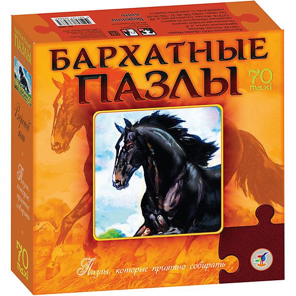 Бархатный пазл Вороной конь, черный, Дрофа-МедиаПазлы для малышей<br>Характеристики  пазла Бархатный Вороной конь:<br><br>- возраст: от 5 лет<br>- пол: для мальчиков и девочек<br>- материал: бархат, картон.<br>- размер упаковки: 22 * 22 * 5 см.<br>- упаковка: картонная коробка.<br>- размер собранного пазла: 43 * 27.5 см.<br>- бренд: Дрофа-Медиа<br>- страна обладатель бренда: Россия.<br><br>Бархатный пазл Вороной конь обязательно понравится всем любителем такого замечательного и благородного животного как лошадь. Производитель Дрофа-Медиа предлагает собрать картинку и любоваться изображением прекрасного черного коня. Материал, из которого выполнен пазл, придает картинке еще большую роскошь.<br><br>Бархатный пазл Вороной конь издательства Дрофа-Медиа  можно купить в нашем интернет-магазине.<br><br>Ширина мм: 220<br>Глубина мм: 50<br>Высота мм: 220<br>Вес г: 270<br>Возраст от месяцев: 60<br>Возраст до месяцев: 2147483647<br>Пол: Унисекс<br>Возраст: Детский<br>Количество деталей: 70<br>SKU: 5386274