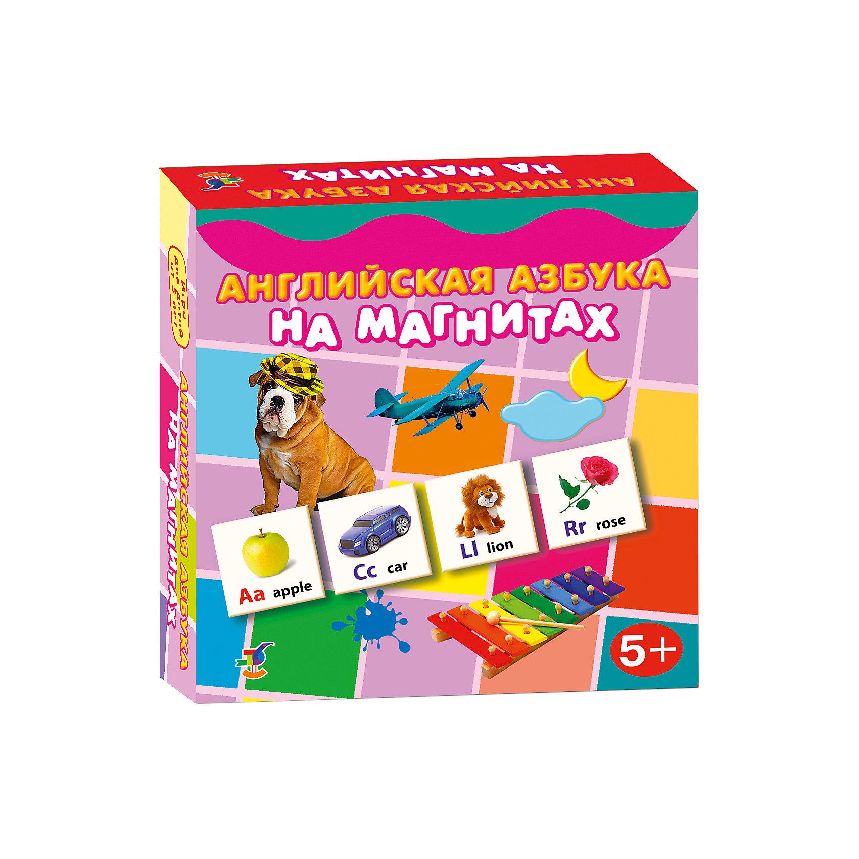 Английская азбука на магнитах, Дрофа-МедиаКарточные игры<br>Характеристики английской азбуки на магнитах:<br><br>- возраст: от 5 лет<br>- пол: для мальчиков и девочек<br>- комплект: 96 карточек, словарь.<br>- материал: картон, магнит.<br>- размер упаковки: 18 * 18 * 4 см.<br>- упаковка: картонная коробка.<br>- бренд: Дрофа-Медиа<br>- страна обладатель бренда: Россия.<br><br>Яркий набор Английская азбука на магнитах говорит сама за себя. Этот набор в виде карточек, заинтересует ребенка, поможет ему понять основы английского языка. В наборе есть карточки с определенным изображением различных предметов и животных, а также букв. С таким набором, ребенок познакомится со всеми буквами, научится читать, улучшит внимательность и сосредоточенность, а самое главное, что он сможет получить знания об иностранном языке.<br><br>Английскую азбуку на магнитах издательства Дрофа-Медиа можно купить в нашем интернет-магазине.<br><br>Ширина мм: 180<br>Глубина мм: 40<br>Высота мм: 180<br>Вес г: 170<br>Возраст от месяцев: 60<br>Возраст до месяцев: 2147483647<br>Пол: Унисекс<br>Возраст: Детский<br>SKU: 5386279