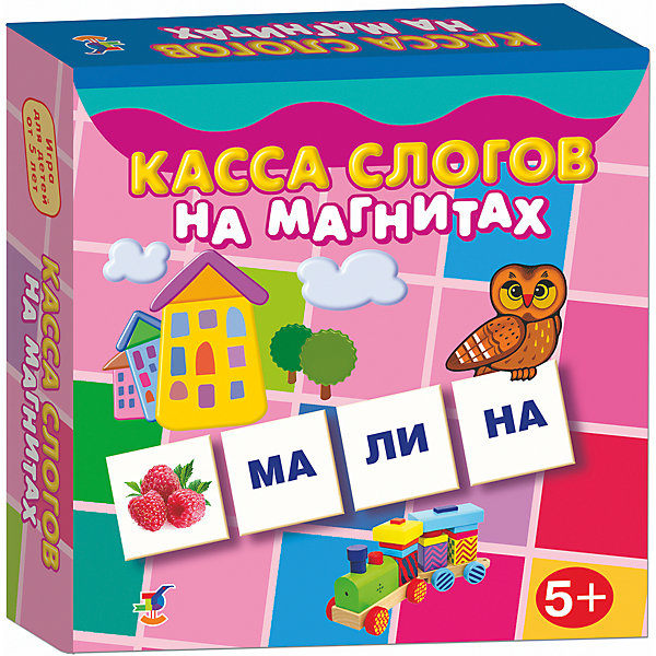 Касса слогов на магнитах, Дрофа-МедиаКасса букв<br>Характеристики кассы слогов на магнитах:<br><br>- возраст: от 5 лет<br>- пол: для мальчиков и девочек<br>- комплект: 96 карточек, инструкция.<br>- материал: картон, магнит.<br>- размер упаковки: 18 * 18 * 4 см.<br>- упаковка: картонная коробка.<br>- бренд: Дрофа-Медиа<br>- страна обладатель бренда: Россия.<br><br>Яркий набор, представленный в виде карточек, будет отличным подарком для детей. Благодаря этому набору, можно научить ребенка составлять слова из слогов. Набор состоит из карточек, на которых изображены предметы и различные виды слогов. Карточки представляют собой плотный картон, сзади которых прикреплен магнит. Этот набор поможет детям ознакомится с видами слогов, научится читать, улучшит внимательность и сосредоточенность, а также сможет составлять слова из слогов.<br><br>Кассу слогов на магнитах издательства Дрофа-Медиа можно купить в нашем интернет-магазине.<br><br>Ширина мм: 180<br>Глубина мм: 40<br>Высота мм: 180<br>Вес г: 170<br>Возраст от месяцев: 60<br>Возраст до месяцев: 2147483647<br>Пол: Унисекс<br>Возраст: Детский<br>SKU: 5386281