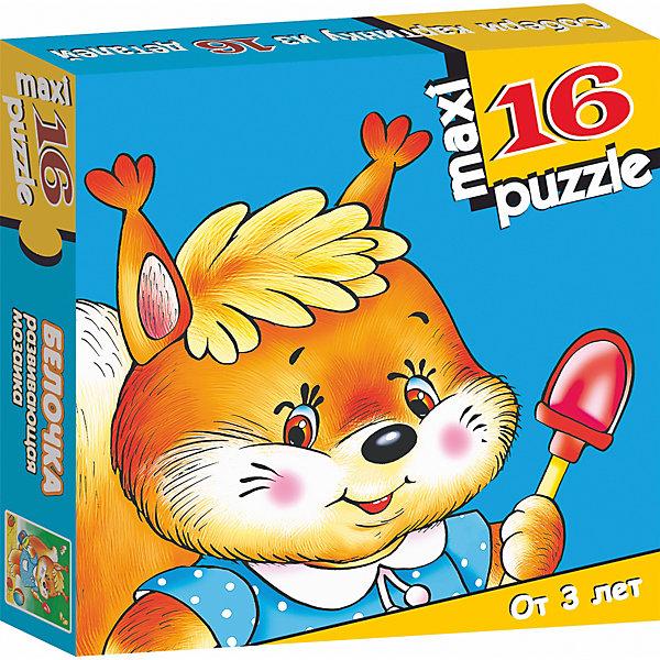 Развивающая мозаика Белочка, Дрофа-МедиаМозаика<br>Характеристики развивающей мозаики Белочка:<br><br>- возраст: от 3 лет<br>- пол: для мальчиков и девочек<br>- количество деталей: 16 шт.<br>- материал: картон, бумага.<br>- размер упаковки: 16.5 * 3 * 16.5 см.<br>- упаковка: картонная коробка.<br>-размер собранного пазла: 33 * 31 см.<br>- бренд: Дрофа-Медиа<br>- страна обладатель бренда: Россия.<br><br>Макси-пазл Белочка представляет собой набор из шестнадцати элементов, которые предстоит собрать ребенку, чтобы получить цельное изображение. Элементы пазла хорошо крепятся друг с другом, можно не беспокоиться за целостность уже собранных деталей. Для того, чтобы соединить все детали, ребенку будет необходимо приглядывать к их форме, наблюдать за фрагментами изображения на отдельных элементах и следить. Ребенок будет очень доволен, когда закончит работу, ведь готовую картинку можно будет показать родителям и повесить на стену, сохранив ее на память.<br><br>Развивающая мозаика Белочка издательства Дрофа-Медиа можно купить в нашем интернет-магазине.<br><br>Ширина мм: 165<br>Глубина мм: 30<br>Высота мм: 165<br>Вес г: 170<br>Возраст от месяцев: 36<br>Возраст до месяцев: 2147483647<br>Пол: Унисекс<br>Возраст: Детский<br>SKU: 5386292