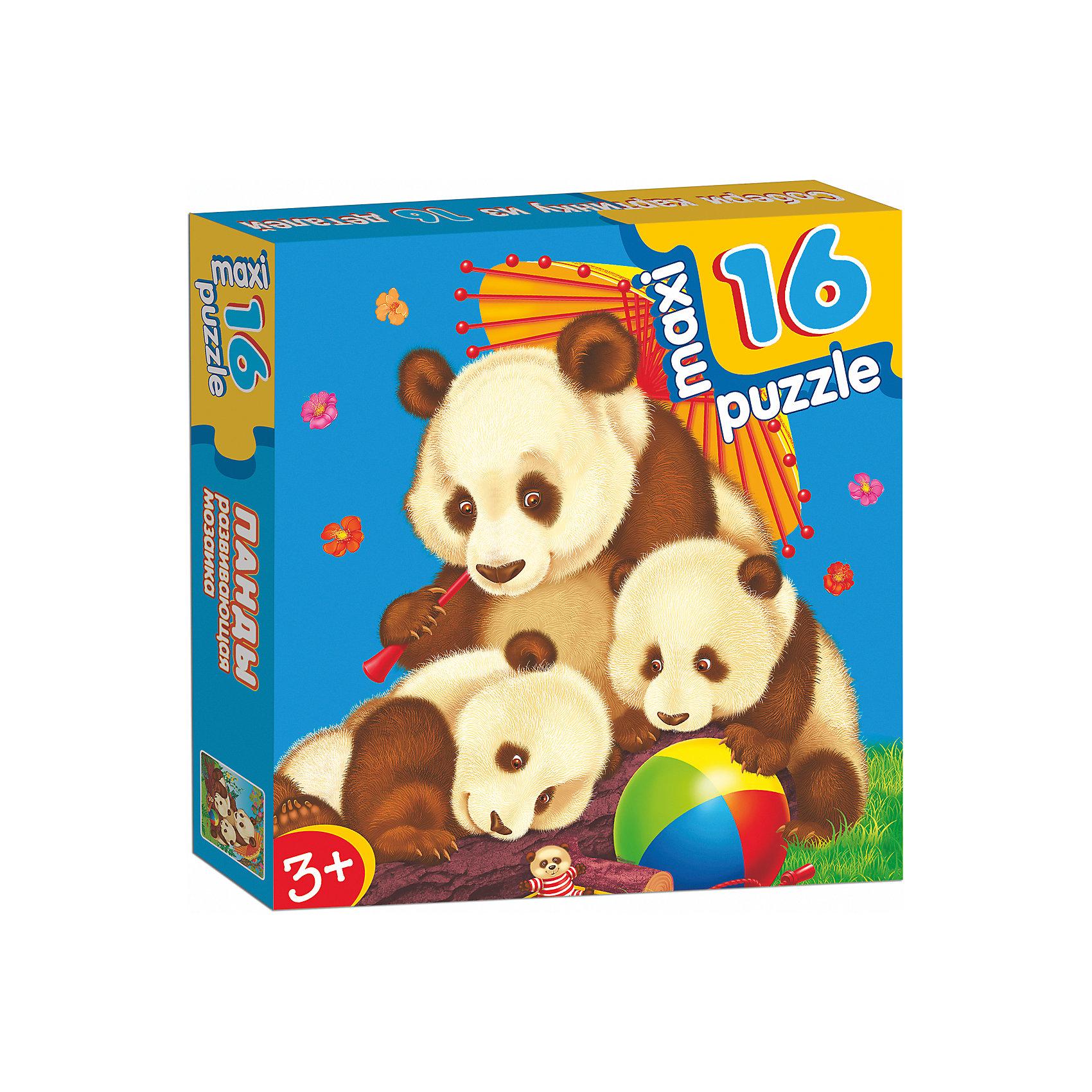 Развивающая мозаика Панды, Дрофа-МедиаХарактеристики развивающую  мозаику Панды:<br><br>- возраст: от 3 лет<br>- пол: для мальчиков и девочек<br>- количество деталей: 16.<br>- материал: картон.<br>- размер упаковки: 16.5 * 16.5 * 3 см.<br>- размер игрушки: 31 * 33 см.<br>- вес: 0.154 кг.<br>- упаковка: картонная коробка.<br>- бренд: Дрофа-Медиа<br>- страна обладатель бренда: Россия.<br><br>Развивающая мозаика Панды - макси-пазл для самых маленьких. Чтобы собрать картинку целиком, малышу нужно правильно подбирать элементы пазла. Когда все деталь мозаики соединятся между собой, получится красивое изображение милых панд. Макси-пазлы направлены на развитие внимательности, усидчивости и памяти у малышей. Ребенок научится самостоятельно складывать изображение из нескольких деталей, подбирая недостающий фрагмент изображения.<br><br>Развивающую мозаику Панды издательства Дрофа-Медиа можно купить в нашем интернет-магазине.<br><br>Ширина мм: 165<br>Глубина мм: 30<br>Высота мм: 165<br>Вес г: 170<br>Возраст от месяцев: 36<br>Возраст до месяцев: 2147483647<br>Пол: Унисекс<br>Возраст: Детский<br>SKU: 5386298