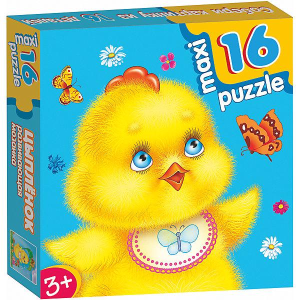 Развивающая мозаика Цыпленок, Дрофа-МедиаМозаика<br>Характеристики развивающую  мозаику Цыпленок:<br><br>- возраст: от 3 лет<br>- пол: для мальчиков и девочек<br>- количество деталей: 16.<br>- размер упаковки: 16.5 * 16.5 * 3 см.<br>- упаковка: картонная коробка.<br>- бренд: Дрофа-Медиа<br>- страна обладатель бренда: Россия.<br><br>Maxi-пазл Цыпленок от российской компании Дрофа-Медиа состоит из 16 крупных элементов, которые, если сложить их в определенном порядке, составят яркую картинку с изображением милого желтого цыпленка. Ребенок познакомится с миром головоломок и пазлов, который будет развивать логическое мышление малыша.<br><br>Развивающую мозаику Цыпленок издательства Дрофа-Медиа можно купить в нашем интернет-магазине.<br><br>Ширина мм: 165<br>Глубина мм: 30<br>Высота мм: 165<br>Вес г: 170<br>Возраст от месяцев: 36<br>Возраст до месяцев: 2147483647<br>Пол: Унисекс<br>Возраст: Детский<br>SKU: 5386300