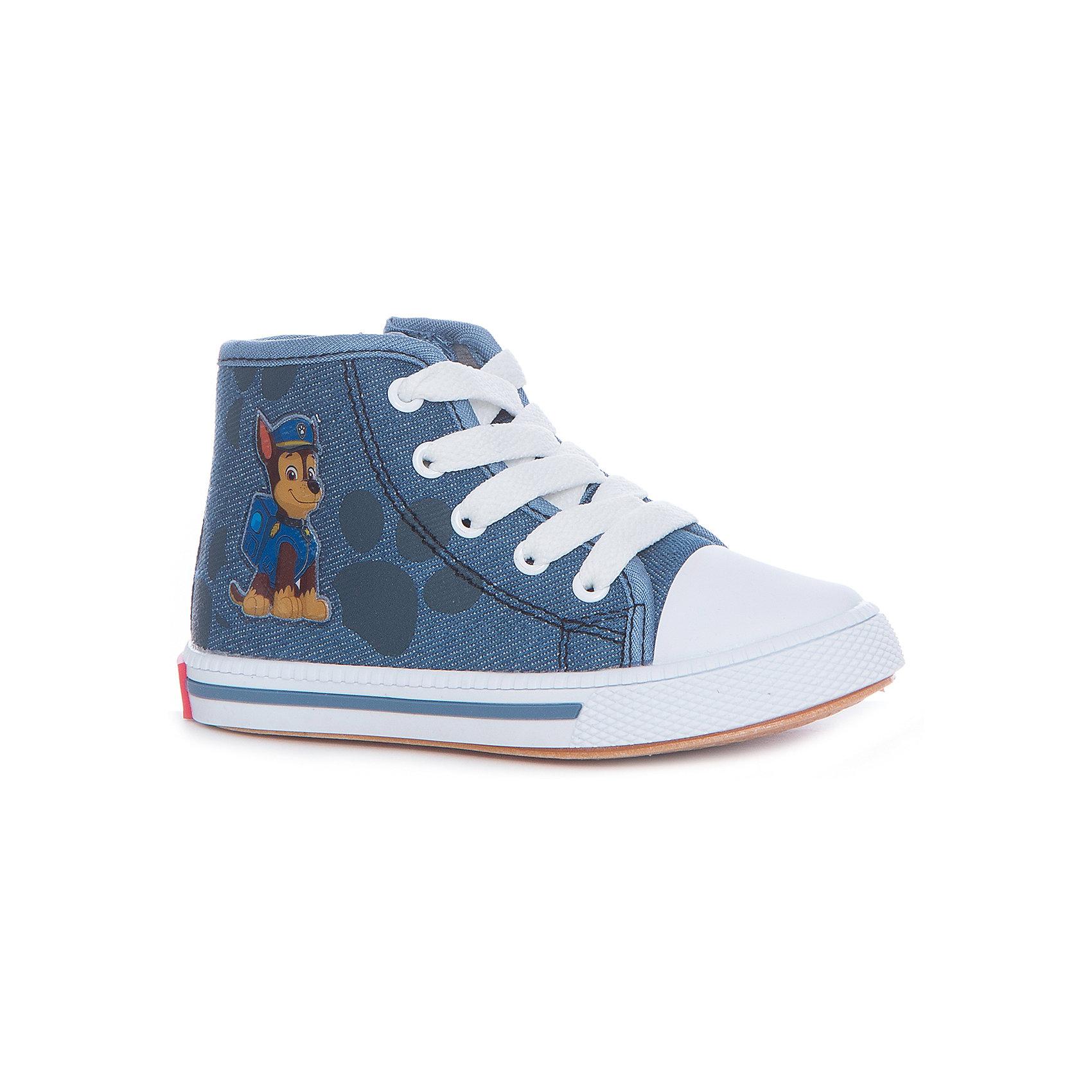 Кеды для мальчика KAKADUХарактеристики:<br><br>• цвет: синий<br>• внешний метариал обуви: текстиль<br>• внутренний материал обуви: 100% хлопок<br>• стелька: 100% хлопок<br>• подошва: ПВХ<br>• высота подошвы: 1 см<br>• анатомическая стелька<br>• съёмная стелька<br>• застежка: молния сбоку, шнурки<br>• защищённый мыс<br>• сезон: лето<br>• тип обуви: высокие кеды<br>• тип подошвы: рифлёная<br>• способ крепления подошвы: литая<br>• изображение геров мультфильма Щенячий патруль<br>• уход: удаление загрязнений мягкой щеткой<br>• страна бренда: Россия<br>• страна производства: Китай<br><br>Полуботинки для мальчика KAKADU от Сrossway – это обувь, которая характеризуется высокими качественными и потребительскими характеристиками: прочная, удобная и при этом модная, и яркая! Полуботинки предназначены для летних прогулок. Они выполнены с учетом анатомических особенностей детской стопы: у конструкции стельки предусмотрен профилированный свод стопы, который способствует не только правильной фиксации ноги, но и является эффективным средством профилактики плоскостопия. <br><br>Верх изделия – из текстиля, который обладает высокой воздухопроницаемостью и гигроскопичностью, внутренняя часть и съемная стелька изготовлены из хлопка. Подошва выполнена из поливинилхлорида, который особенно устойчив к истиранию. <br><br>Сбоку предусмотрена застежка-молния, спереди – шнуровка, которая выполняет не только декоративные функции, но и обеспечивает хорошую фиксацию обуви. Высокие кеды имеют классическую форму и стильный дизайн: выполнены с эффектом джинсовой ткани и декорированы изображением в виде героя из мультфильма Щенячий патруль – Гонщика.<br><br>Полуботинки для мальчика KAKADU можно купить в нашем интернет-магазине.<br><br>Ширина мм: 262<br>Глубина мм: 176<br>Высота мм: 97<br>Вес г: 427<br>Цвет: синий<br>Возраст от месяцев: 72<br>Возраст до месяцев: 84<br>Пол: Мужской<br>Возраст: Детский<br>Размер: 30,25,26,27,28,29<br>SKU: 5386398