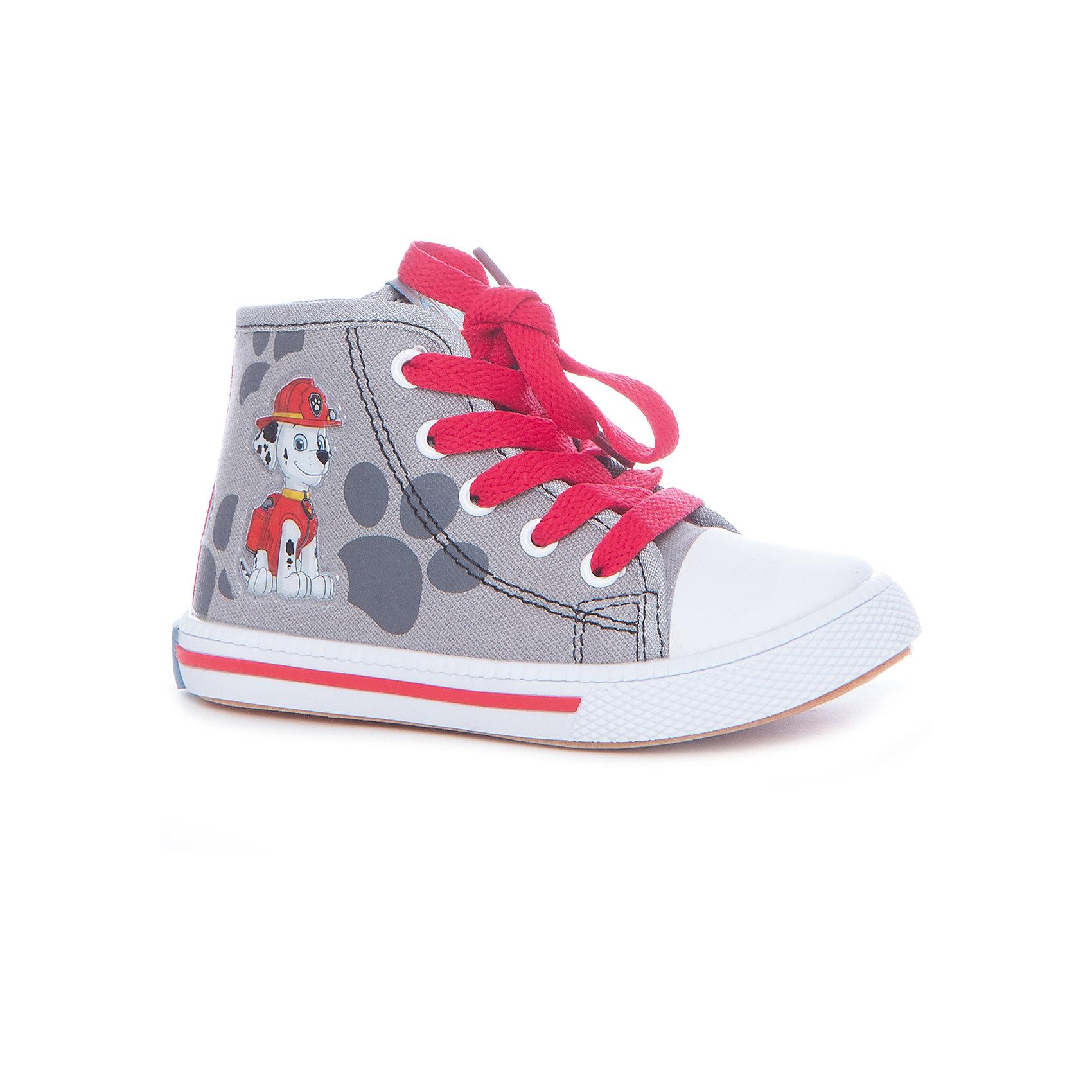 Кеды для мальчика KakaduКеды<br>Характеристики:<br><br>• цвет: серый<br>• внешний метариал обуви: текстиль<br>• внутренний материал обуви: 100% хлопок<br>• стелька: 100% хлопок<br>• подошва: ПВХ<br>• высота подошвы: 1 см<br>• анатомическая стелька<br>• съёмная стелька<br>• застежка: молния сбоку, шнурки<br>• защищённый мыс<br>• сезон: лето<br>• тип обуви: высокие кеды<br>• тип подошвы: рифлёная<br>• способ крепления подошвы: литая<br>• изображение геров мультфильма Щенячий патруль<br>• уход: удаление загрязнений мягкой щеткой<br>• страна бренда: Россия<br>• страна производства: Китай<br><br>Полуботинки для мальчика KAKADU от Сrossway – это обувь, которая характеризуется высокими качественными и потребительскими характеристиками: прочная, удобная и при этом модная, и яркая! Полуботинки предназначены для летних прогулок. Они выполнены с учетом анатомических особенностей детской стопы: у конструкции стельки предусмотрен профилированный свод стопы, который способствует не только правильной фиксации ноги, но и является эффективным средством профилактики плоскостопия. <br><br>Верх изделия – из текстиля, который обладает высокой воздухопроницаемостью и гигроскопичностью, внутренняя часть и съемная стелька изготовлены из хлопка. Подошва выполнена из поливинилхлорида, который особенно устойчив к истиранию. <br><br>Сбоку предусмотрена застежка-молния, спереди – шнуровка, которая выполняет не только декоративные функции, но и обеспечивает хорошую фиксацию обуви. Высокие кеды имеют классическую форму и стильный дизайн: выполнены с эффектом джинсовой ткани и декорированы изображением в виде героя из мультфильма Щенячий патруль – Гонщика.<br><br>Полуботинки для мальчика KAKADU можно купить в нашем интернет-магазине.<br><br>Ширина мм: 262<br>Глубина мм: 176<br>Высота мм: 97<br>Вес г: 427<br>Цвет: серый<br>Возраст от месяцев: 72<br>Возраст до месяцев: 84<br>Пол: Мужской<br>Возраст: Детский<br>Размер: 30,25,26,27,28,29<br>SKU: 5386405