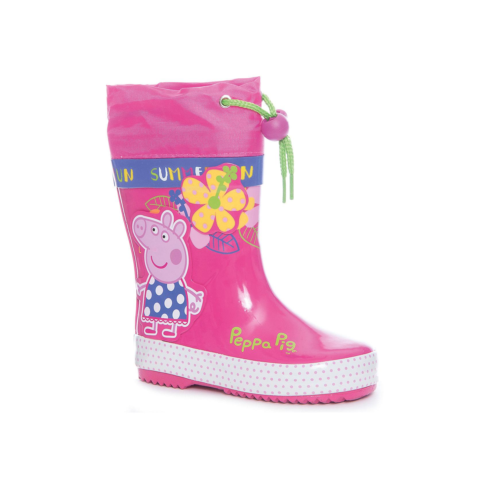 Резиновые сапоги  для девочки KAKADUРезиновые сапоги<br>Характеристики:<br><br>• цвет: розовый<br>• внешний материал: резина<br>• внутренний материал: текстиль<br>• стелька: текстиль<br>• подошва: резина<br>• температурный режим: от +5С до +15С<br>• съёмная стелька<br>• тип подошвы: рифленая<br>• способ крепления подошвы: литая<br>• на голенище предусмотрены манжеты на шнурке с фиксатором<br>• нход: можно мыть теплой мыльной водой, сухая чистка<br><br>Сапоги для девочки KAKADU – это обувь, которая характеризуется высокими качественными и потребительскими характеристиками: прочная, удобная и при этом модная, и яркая! Сапоги предназначены для прогулок в дождливую погоду. Они выполнены с учетом анатомических особенностей детской стопы. У обуви предусмотрена съемная стелька и подклад из хлопка, что обеспечивает повышенные гигиенические свойства сапожек. <br><br>Подошва выполнена из резины с рифлением, благодаря чему обувь не скользит на асфальтовой и тротуарной поверхности. На голенище у сапожек предусмотрены манжеты, ширина которых регулируется шнурком с фиксатором.<br><br>Сапоги для девочки KAKADU можно купить в нашем интернет-магазине.<br><br>Ширина мм: 257<br>Глубина мм: 180<br>Высота мм: 130<br>Вес г: 420<br>Цвет: розовый<br>Возраст от месяцев: 48<br>Возраст до месяцев: 60<br>Пол: Женский<br>Возраст: Детский<br>Размер: 23,28,24,25,26,27<br>SKU: 5386426