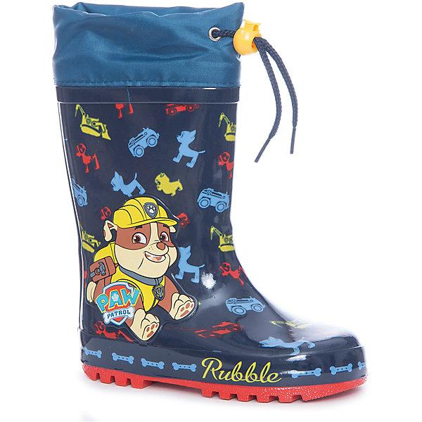 Резиновые сапоги утепленные для мальчика KAKADU, синиеРезиновые сапоги<br>Характеристики товара:<br><br>• цвет: синий<br>• принт: щенячий патруль<br>• внешний материал обуви: резина<br>• внутренний материал: текстиль, байка<br>• стелька: байка<br>• подошва: рефленая<br>• вид обуви: непромокаемая<br>• тип застежки: на липучке<br>• сезон: весна-осень<br>• температурный режимот +5°до +15°С<br>• страна бренда: Россия<br>• страна изготовитель: Китай<br><br>Резиновые сапоги утепленные для мальчика KAKADU можно купить в нашем интернет-магазине.<br>Ширина мм: 257; Глубина мм: 180; Высота мм: 130; Вес г: 420; Цвет: синий; Возраст от месяцев: 18; Возраст до месяцев: 21; Пол: Мужской; Возраст: Детский; Размер: 23,28,27,26,25,24; SKU: 5386440;