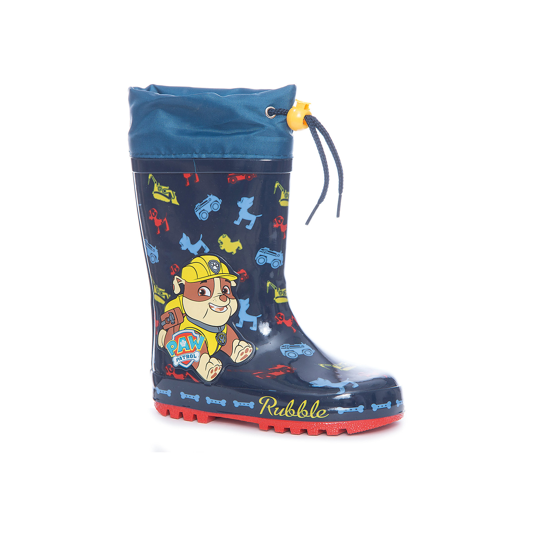 Резиновые сапоги утепленные для мальчика KAKADU, синиеРезиновые сапоги<br>Характеристики товара:<br><br>• цвет: синий<br>• принт: щенячий патруль<br>• внешний материал обуви: резина<br>• внутренний материал: текстиль, байка<br>• стелька: байка<br>• подошва: рефленая<br>• вид обуви: непромокаемая<br>• тип застежки: на липучке<br>• сезон: весна-осень<br>• температурный режимот +5°до +15°С<br>• страна бренда: Россия<br>• страна изготовитель: Китай<br><br>Резиновые сапоги утепленные для мальчика KAKADU можно купить в нашем интернет-магазине.<br><br>Ширина мм: 257<br>Глубина мм: 180<br>Высота мм: 130<br>Вес г: 420<br>Цвет: синий<br>Возраст от месяцев: 18<br>Возраст до месяцев: 21<br>Пол: Мужской<br>Возраст: Детский<br>Размер: 23,28,27,26,24,25<br>SKU: 5386440