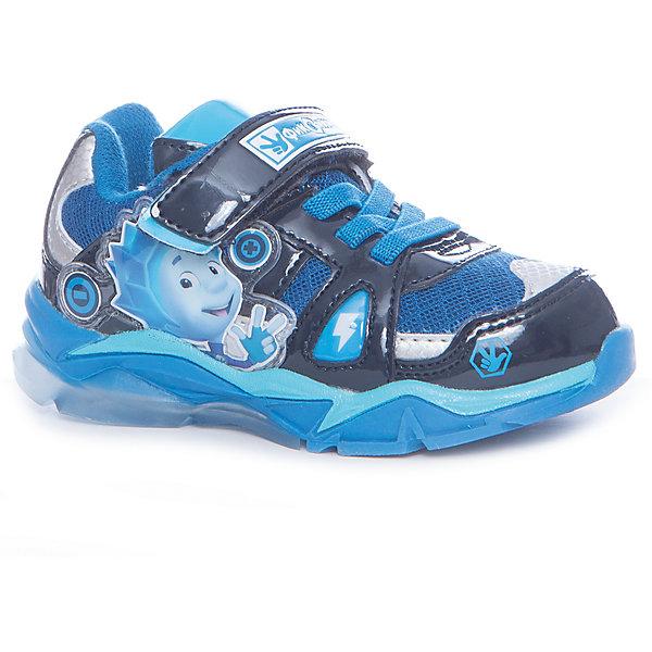 Кроссовки Fixiki для мальчика Kakadu, голубойКроссовки<br>Характеристики товара:<br><br>• цвет: голубой<br>• принт: фиксики<br>• внешний материал обуви: искуственная кожа, текстиль<br>• внутренний материал: текстиль<br>• стелька:текстиль (съемная)<br>• подошва: ТЭП<br>• вид обуви: спортивный стиль<br>• тип застежки: на липучке<br>• сезон: весна-осень<br>• температурный режим: от +10°до +20°С<br>• страна бренда: Россия<br>• страна изготовитель: Китай<br><br>Кроссовки со свектодиодной подсветкой для мальчиков Fixiki бренда Какаду будут радовать ребенка во время прогулок. Они созданы из качественных сертифицированных материалов. <br><br>Подкладка из натурального хлопка обеспечивает воздухообмен и комфортный микроклимат вне зависимости от погоды. Подошва из термопластичной резины кроме хорошей амортизации обладает влагоотталкивающими свойствами. <br><br>Кроссовки для мальчика KAKADU можно купить в нашем интернет-магазине.<br><br>Ширина мм: 262<br>Глубина мм: 176<br>Высота мм: 97<br>Вес г: 427<br>Цвет: синий<br>Возраст от месяцев: 48<br>Возраст до месяцев: 60<br>Пол: Мужской<br>Возраст: Детский<br>Размер: 28,24,29,27,26,25<br>SKU: 5386461