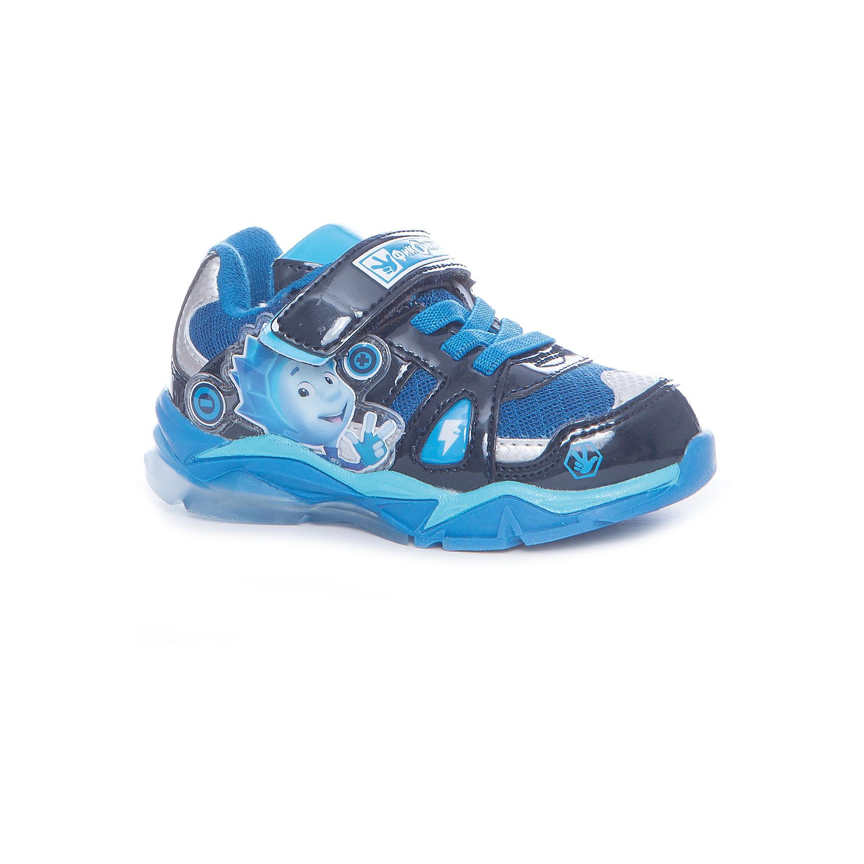 Кроссовки Fixiki для мальчика Kakadu, голубойКроссовки<br>Характеристики товара:<br><br>• цвет: голубой<br>• принт: фиксики<br>• внешний материал обуви: искуственная кожа, текстиль<br>• внутренний материал: текстиль<br>• стелька:текстиль (съемная)<br>• подошва: ТЭП<br>• вид обуви: спортивный стиль<br>• тип застежки: на липучке<br>• сезон: весна-осень<br>• температурный режим: от +10°до +20°С<br>• страна бренда: Россия<br>• страна изготовитель: Китай<br><br>Кроссовки со свектодиодной подсветкой для мальчиков Fixiki бренда Какаду будут радовать ребенка во время прогулок. Они созданы из качественных сертифицированных материалов. <br><br>Подкладка из натурального хлопка обеспечивает воздухообмен и комфортный микроклимат вне зависимости от погоды. Подошва из термопластичной резины кроме хорошей амортизации обладает влагоотталкивающими свойствами. <br><br>Кроссовки для мальчика KAKADU можно купить в нашем интернет-магазине.<br><br>Ширина мм: 262<br>Глубина мм: 176<br>Высота мм: 97<br>Вес г: 427<br>Цвет: синий<br>Возраст от месяцев: 21<br>Возраст до месяцев: 24<br>Пол: Мужской<br>Возраст: Детский<br>Размер: 24,29,25,26,27,28<br>SKU: 5386461