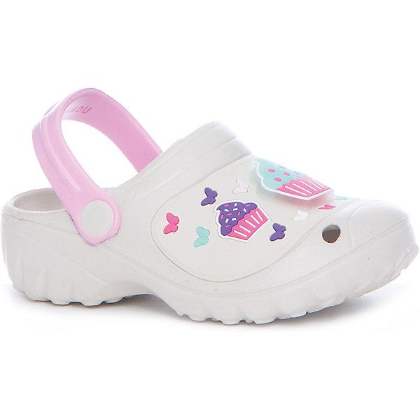 Сабо для девочки KAKADUПляжная обувь<br>Характеристики:<br><br>• цвет: белый<br>• внешний материал: ПВХ, ЭВА<br>• внутренний материал: ПВХ, ЭВА<br>• стелька: без стельки<br>• Подошва: ПВХ, ЭВА<br>• высота подошвы: 1,5 см<br>• шлёпанцы со светодиодами в декортивных элементах<br>• назначение обуви: для пляжа<br>• сезон: лето<br>• тип подошвы: рифлёная<br>• уход: удаление загрязнений мягкой щеткой<br><br>Туфли для девочки KAKADU от Сrossway – это обувь, которая характеризуется высокими качественными и потребительскими характеристиками: прочная, удобная и при этом модная, и яркая! Туфли предназначены для пляжа или для бассейна. Они выполнены с учетом анатомических особенностей детской стопы. <br><br>Верх изделия – из сочетания экологически безопасных и гипоаллергенных материалов – этиленвинилацетата и поливинилхлорида. Подошва выполнена из этиленвинилацетата, который обладает высокими амортизирующими и противоскользящими свойствами. <br><br>Шлепки имеют классическую форму, сзади для пяточек предусмотрены широкие ремешки, которые обеспечивают фиксацию на ножках. Обуви выполнена в ярком дизайне: декоративные элементы в виде кексов и бабочек дополнены мигающим светодиодным элементом. <br><br>Шлёпанцы для мальчика KAKADU можно купить в нашем интернет-магазине.<br>Ширина мм: 227; Глубина мм: 145; Высота мм: 124; Вес г: 325; Цвет: серый; Возраст от месяцев: 84; Возраст до месяцев: 96; Пол: Женский; Возраст: Детский; Размер: 31,27,30,29,28; SKU: 5386488;