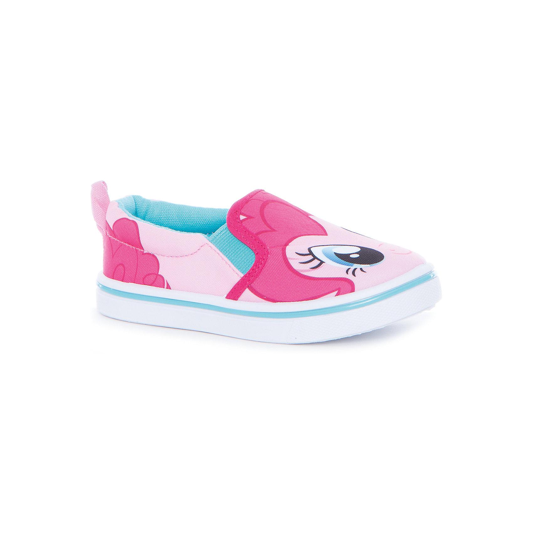 Слипоны для девочки KAKADUТекстильные туфли<br>Характеристики:<br><br>• цвет: розовый<br>• внешний материал: текстиль<br>• внутренний материал: хлопок<br>• стелька: хлопок<br>• подошва: ПВХ<br>• высота подошвы: 1 см<br>• съёмная стелька<br>• эластичные вставки для удобства надевания<br>• сезон: лето<br>• тематика рисунка: My Little Pony<br>• тип подошвы: рифлёная<br>• способ крепления подошвы: литая<br>• тип застёжки: без застёжки<br>• уход: удаление загрязнений мягкой щеткой<br>• страна бренда: Россия<br>• страна производитель: Китай<br><br>Туфли для девочки KAKADU от Сrossway – это обувь, которая характеризуется высокими качественными и потребительскими характеристиками: прочная, удобная и при этом модная, и яркая! Туфли предназначены для летних прогулок. Они выполнены с учетом анатомических особенностей детской стопы. <br><br>Верх изделия – из текстиля, который обладает высокой воздухопроницаемостью и гигроскопичностью, внутренняя часть и съемная стелька изготовлены из хлопка. Подошва выполнена из поливинилхлорида, который особенно устойчив к истиранию. <br><br>По бокам имеются эластичные вставки, которые обеспечивают хорошую посадку по ноге и легкое обувание. Кеды имеют классическую форму и стильный дизайн: выполнены в модном цвете и декорированы ярким принтом с изображением Пинки Пай из мультсериала Мой маленький пони.<br><br>Туфли для девочки KAKADU можно купить в нашем интернет-магазине.<br><br>Ширина мм: 227<br>Глубина мм: 145<br>Высота мм: 124<br>Вес г: 325<br>Цвет: розовый<br>Возраст от месяцев: 24<br>Возраст до месяцев: 24<br>Пол: Женский<br>Возраст: Детский<br>Размер: 25,26,27,28,29,30<br>SKU: 5386522