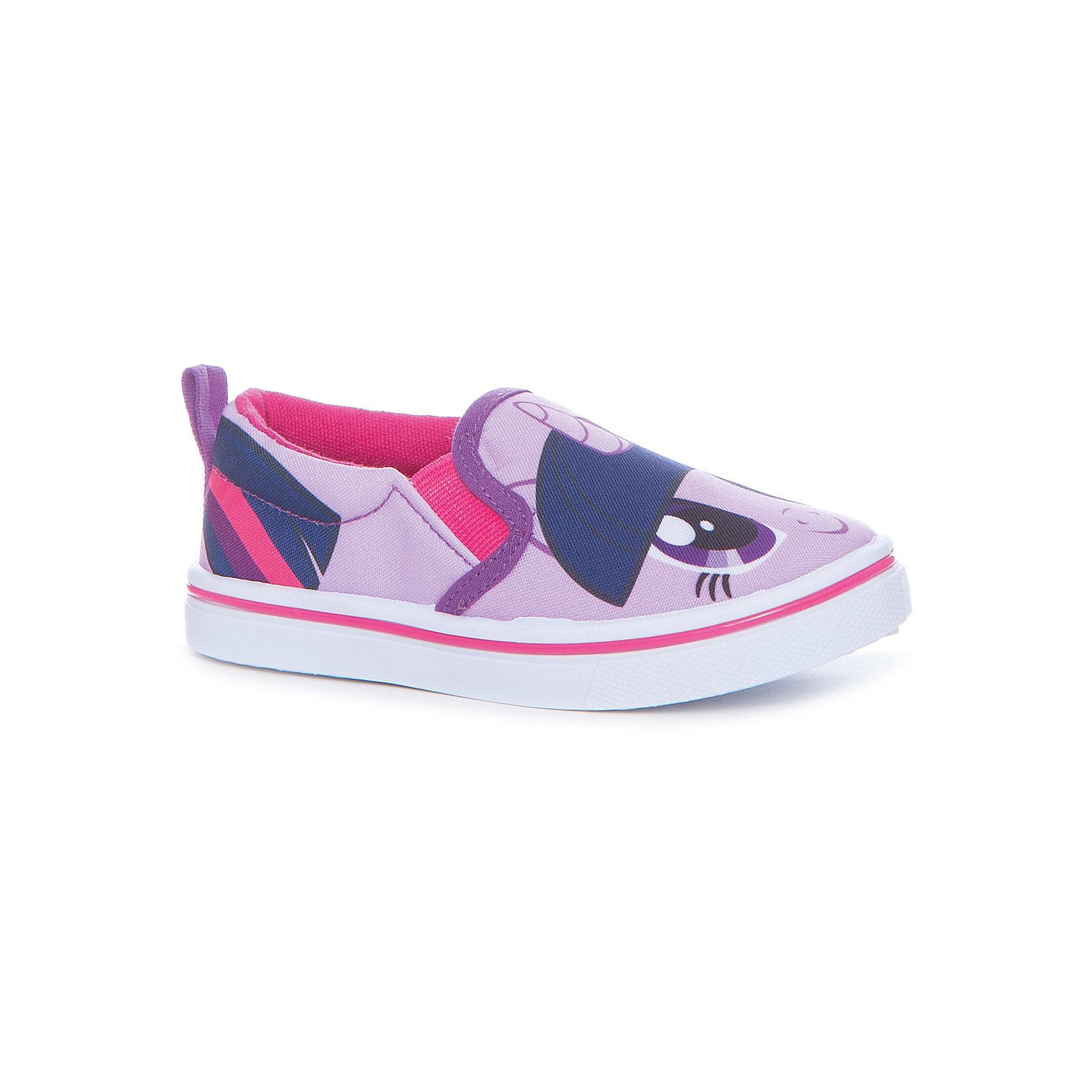 Слипоны для девочки KakaduТекстильные туфли<br>Характеристики:<br><br>• цвет: сиреневый<br>• внешний материал: текстиль<br>• внутренний материал: хлопок<br>• стелька: хлопок<br>• подошва: ПВХ<br>• высота подошвы: 1 см<br>• съёмная стелька<br>• эластичные вставки для удобства надевания<br>• сезон: лето<br>• тематика рисунка: My Little Pony<br>• тип подошвы: рифлёная<br>• способ крепления подошвы: литая<br>• тип застёжки: без застёжки<br>• уход: удаление загрязнений мягкой щеткой<br>• страна бренда: Россия<br>• страна производитель: Китай<br><br>Туфли для девочки KAKADU от Сrossway – это обувь, которая характеризуется высокими качественными и потребительскими характеристиками: прочная, удобная и при этом модная, и яркая! Туфли предназначены для летних прогулок. Они выполнены с учетом анатомических особенностей детской стопы. <br><br>Верх изделия – из текстиля, который обладает высокой воздухопроницаемостью и гигроскопичностью, внутренняя часть и съемная стелька изготовлены из хлопка. Подошва выполнена из поливинилхлорида, который особенно устойчив к истиранию. <br><br>По бокам имеются эластичные вставки, которые обеспечивают хорошую посадку по ноге и легкое обувание. Кеды имеют классическую форму и стильный дизайн: выполнены в модном цвете и декорированы ярким принтом с изображением Пинки Пай из мультсериала Мой маленький пони.<br><br>Туфли для девочки KAKADU можно купить в нашем интернет-магазине.<br><br>Ширина мм: 227<br>Глубина мм: 145<br>Высота мм: 124<br>Вес г: 325<br>Цвет: фиолетовый<br>Возраст от месяцев: 24<br>Возраст до месяцев: 24<br>Пол: Женский<br>Возраст: Детский<br>Размер: 25,30,26,27,28,29<br>SKU: 5386529