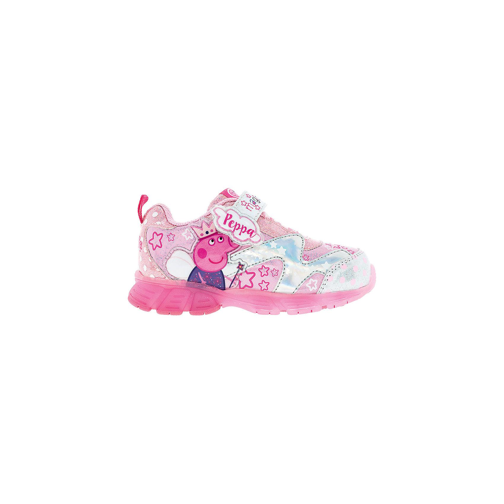 Кроссовки со светодиодами для девочки Kakadu