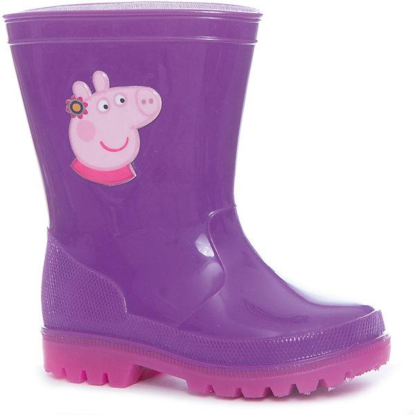 Резиновые сапоги Peppa Pig  для девочки KAKADU со светодиодами, сиреневыеРезиновые сапоги<br>Характеристики товара:<br><br>• цвет: сиреневый<br>• принт: Свинка Пеппа<br>• внешний материал обуви: ПВХ<br>• внутренний материал: текстиль, хлопок<br>• подошва: рефленая, со светодиодами<br>• вид обуви: непромокаемая<br>• сезон: весна-лето<br>• температурный режим: от +10°до +20°С<br>• страна бренда: Россия<br>• страна изготовитель: Китай<br><br>Светящиеся резиновые сапоги для девочек Peppa Pig выполнены из прочного непромокаемого материала. <br><br>Подкладка и стельки из натурального гипоаллергенного хлопка создают благоприятный микроклимат внутри обуви. <br><br>Светящиеся резиновые сапоги для девочки Свинка Пеппа украшены красочным изображением любимой мультгероини. Светодиоды работают от встроенного одноразового аккумулятора, работы которого хватит примерно на полгода активной ежедневной носки.<br><br>Резиновые сапоги Peppa Pig  для девочки KAKADU со светодиодами, сиреневые можно купить в нашем интернет-магазине.<br><br>Ширина мм: 257<br>Глубина мм: 180<br>Высота мм: 130<br>Вес г: 420<br>Цвет: лиловый<br>Возраст от месяцев: 21<br>Возраст до месяцев: 24<br>Пол: Женский<br>Возраст: Детский<br>Размер: 24,30,29,28,27,26,25<br>SKU: 5386613