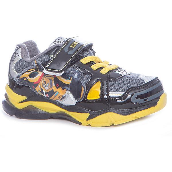 Кроссовки Transformers для мальчика Kakadu, черный, желтыйКроссовки<br>Характеристики товара:<br><br>• цвет: черный, желтый<br>• принт: Трансформеры<br>• внешний материал обуви: искуственная кожа, текстиль<br>• внутренний материал: текстиль<br>• стелька:текстиль (съемная)<br>• подошва: ТЭП<br>• вид обуви: спортивный стиль<br>• тип застежки: на липучке, на шнурках<br>• сезон: весна-осень<br>• температурный режим: от +10°до +20°С<br>• страна бренда: Россия<br>• страна изготовитель: Китай<br><br>Кроссовки для мальчиков Transformers бренда Какаду будут радовать ребенка во время прогулок. Они созданы из качественных сертифицированных материалов. <br><br>Подкладка из натурального хлопка обеспечивает воздухообмен и комфортный микроклимат вне зависимости от погоды. Подошва из термопластичной резины кроме хорошей амортизации обладает влагоотталкивающими свойствами.<br><br>Кроссовки для мальчика KAKADU можно купить в нашем интернет-магазине.<br><br>Ширина мм: 262<br>Глубина мм: 176<br>Высота мм: 97<br>Вес г: 427<br>Цвет: черный<br>Возраст от месяцев: 24<br>Возраст до месяцев: 36<br>Пол: Мужской<br>Возраст: Детский<br>Размер: 26,31,30,29,28,27<br>SKU: 5386706