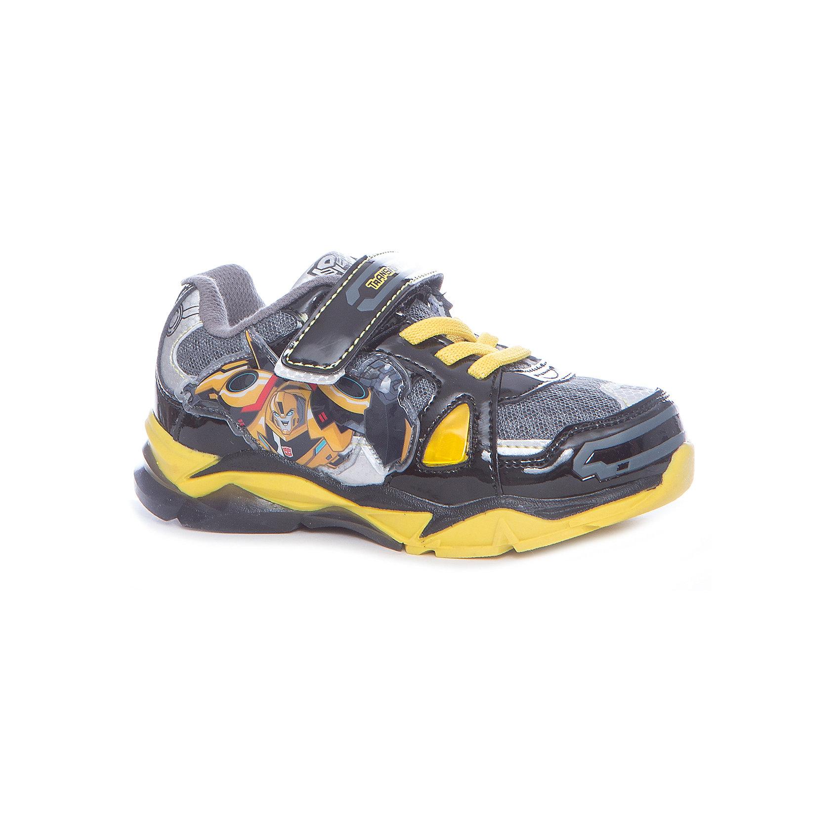 Кроссовки Transformers для мальчика Kakadu, черный, желтыйКроссовки<br>Характеристики товара:<br><br>• цвет: черный, желтый<br>• принт: Трансформеры<br>• внешний материал обуви: искуственная кожа, текстиль<br>• внутренний материал: текстиль<br>• стелька:текстиль (съемная)<br>• подошва: ТЭП<br>• вид обуви: спортивный стиль<br>• тип застежки: на липучке, на шнурках<br>• сезон: весна-осень<br>• температурный режим: от +10°до +20°С<br>• страна бренда: Россия<br>• страна изготовитель: Китай<br><br>Кроссовки для мальчиков Transformers бренда Какаду будут радовать ребенка во время прогулок. Они созданы из качественных сертифицированных материалов. <br><br>Подкладка из натурального хлопка обеспечивает воздухообмен и комфортный микроклимат вне зависимости от погоды. Подошва из термопластичной резины кроме хорошей амортизации обладает влагоотталкивающими свойствами.<br><br>Кроссовки для мальчика KAKADU можно купить в нашем интернет-магазине.<br><br>Ширина мм: 262<br>Глубина мм: 176<br>Высота мм: 97<br>Вес г: 427<br>Цвет: черный<br>Возраст от месяцев: 24<br>Возраст до месяцев: 36<br>Пол: Мужской<br>Возраст: Детский<br>Размер: 26,31,27,28,29,30<br>SKU: 5386706