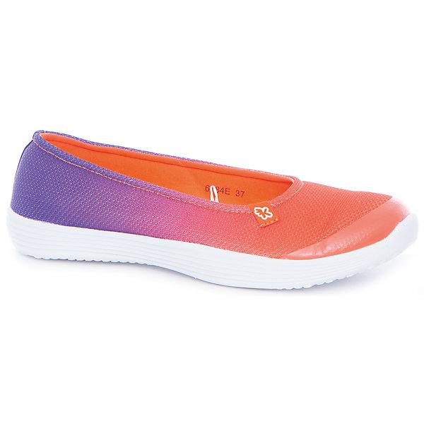 Туфли для девочки KakaduТуфли<br>Характеристики:<br><br>• цвет: оранжевый/фиолетовый<br>• внешний материал: текстиль<br>• внутренний материал: текстиль<br>• стелька: текстиль<br>• подошва: ЭВА<br>• высота подошвы: 1,5 см<br>• съёмная ультрамягкая стелька<br>• облегчённая подошва<br>• тип застежки: без застежки<br>• сезон: лето<br>• тип обуви: туфли<br>• тип подошвы: рифлёная<br>• способ крепления подошвы: литая<br>• уход: удаление загрязнений мягкой щеткой<br><br>Верх изделия – текстиля и полиэстера, что обеспечивает хорошую воздухопроницаемость, гигиеничность, высокую устойчивость к изменению цвета и формы. Подошва выполнена из этиленвинилацетата, который не утяжеляет вес обуви и при этом обеспечивает ее гибкость. Туфли имеют классическую форму и стильный дизайн.<br><br>Туфли для девочки KAKADU можно купить в нашем интернет-магазине.<br><br>Ширина мм: 227<br>Глубина мм: 145<br>Высота мм: 124<br>Вес г: 325<br>Цвет: оранжевый<br>Возраст от месяцев: 96<br>Возраст до месяцев: 108<br>Пол: Женский<br>Возраст: Детский<br>Размер: 32,37,36,35,34,33<br>SKU: 5386867
