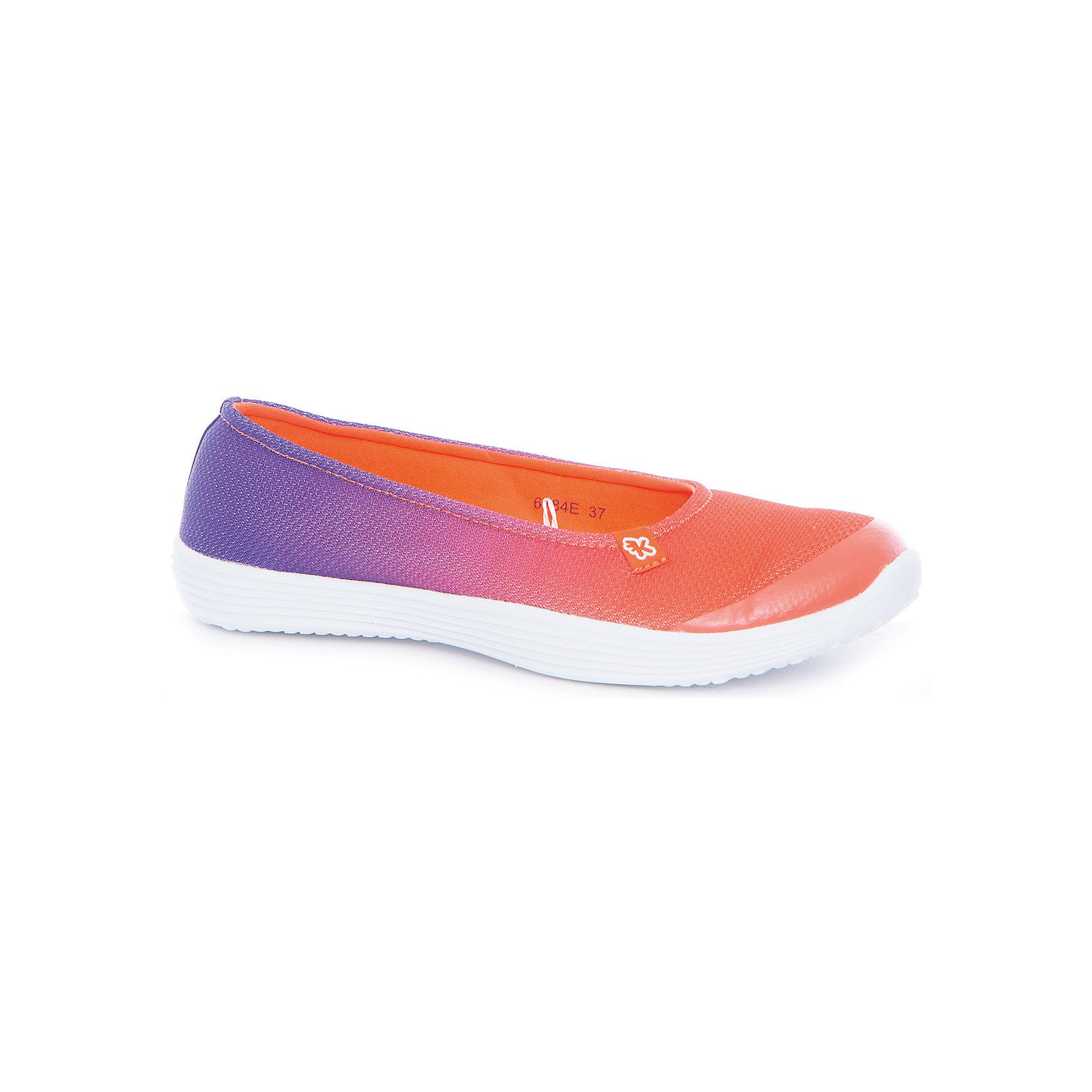 Туфли для девочки KakaduТуфли<br>Характеристики:<br><br>• цвет: оранжевый/фиолетовый<br>• внешний материал: текстиль<br>• внутренний материал: текстиль<br>• стелька: текстиль<br>• подошва: ЭВА<br>• высота подошвы: 1,5 см<br>• съёмная ультрамягкая стелька<br>• облегчённая подошва<br>• тип застежки: без застежки<br>• сезон: лето<br>• тип обуви: туфли<br>• тип подошвы: рифлёная<br>• способ крепления подошвы: литая<br>• уход: удаление загрязнений мягкой щеткой<br><br>Верх изделия – текстиля и полиэстера, что обеспечивает хорошую воздухопроницаемость, гигиеничность, высокую устойчивость к изменению цвета и формы. Подошва выполнена из этиленвинилацетата, который не утяжеляет вес обуви и при этом обеспечивает ее гибкость. Туфли имеют классическую форму и стильный дизайн.<br><br>Туфли для девочки KAKADU можно купить в нашем интернет-магазине.<br><br>Ширина мм: 227<br>Глубина мм: 145<br>Высота мм: 124<br>Вес г: 325<br>Цвет: оранжевый<br>Возраст от месяцев: 156<br>Возраст до месяцев: 168<br>Пол: Женский<br>Возраст: Детский<br>Размер: 37,32,33,34,35,36<br>SKU: 5386867