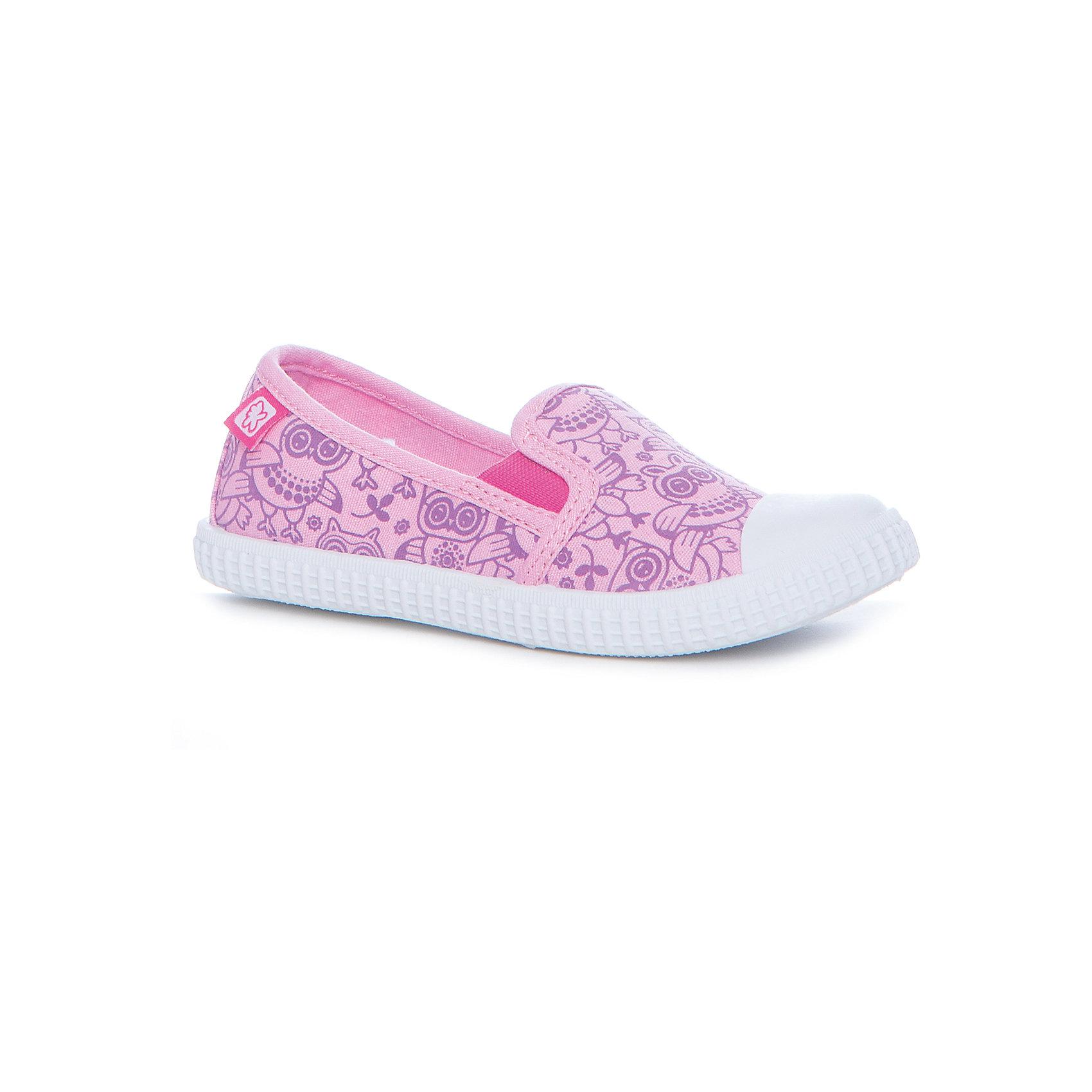 Слипоны для девочки KakaduТекстильные туфли<br>Характеристики:<br><br>• цвет: розовый<br>• внешний материал: текстиль<br>• внутренний материал: текстиль<br>• стелька: хлопок<br>• подошва: ТПР<br>• высота подошвы: 1 см<br>• съёмная анатомическая стелька<br>• усиленный защищённый мыс<br>• тип застежки: без застежки<br>• сезон: лето<br>• тип обуви: слипоны<br>• тип подошвы: рифлёная<br>• способ крепления подошвы: литая<br>• уход: удаление загрязнений мягкой щеткой<br>• страна бренда: Россия<br>• страна изготовитель: Китай<br><br>Туфли выполнены с учетом анатомических особенностей детской стопы: у конструкции стельки предусмотрен профилированный свод стопы, который способствует не только правильной фиксации ноги, но и является эффективным средством профилактики плоскостопия. Верх изделия – из текстиля, который обладает высокой воздухопроницаемостью и гигроскопичностью, внутренняя часть и съемная стелька изготовлены из хлопка. <br><br>Подошва выполнена из термопластичной резины, которая обладает легким весом и эластичностью. По бокам предусмотрены эластичные вставки. Высокие кеды имеют классическую форму и модный дизайн: принт из сиреневых совушек на бирюзовом фоне.<br><br>Туфли для девочки KAKADU можно купить в нашем интернет-магазине.<br><br>Ширина мм: 227<br>Глубина мм: 145<br>Высота мм: 124<br>Вес г: 325<br>Цвет: розовый<br>Возраст от месяцев: 108<br>Возраст до месяцев: 120<br>Пол: Женский<br>Возраст: Детский<br>Размер: 31,32,33,28,29,30<br>SKU: 5386920