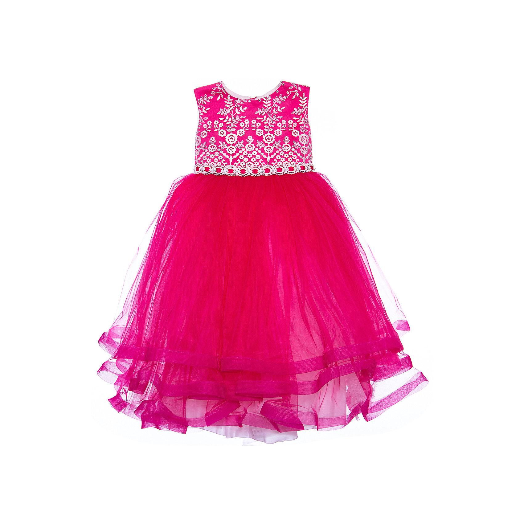 Платье нарядное для девочки ПрестижХарактеристики:<br><br>• Вид детской и подростковой одежды: платье<br>• Предназначение: праздничная<br>• Коллекция: Veronikaiko<br>• Сезон: круглый год<br>• Тематика рисунка: цветы<br>• Цвет: персиковый<br>• Материал: 100% полиэстер<br>• Силуэт: А-силуэт, пышный<br>• Юбка: солнце<br>• Рукав: без рукава<br>• Вырез горловины: круглый<br>• Длина платья: миди, кан-кан<br>• Застежка: молния на спинке<br>• Особенности ухода: ручная стирка при температуре не более 30 градусов<br><br>Платье нарядное для девочки Престиж от отечественного производителя праздничной одежды и аксессуаров как для взрослых, так и для детей. Изделие выполнено из 100% полиэстера, который обладает легкостью, прочностью, устойчивостью к износу и пятнам. <br><br>Платье отрезное по талии, имеет классический А-силуэт. Круглая горловина декорирована бусинами и стразами. Платье выполнено в нежном дизайне: верх платья оформлен вышитыми букетиками белых цветов и многоярусная фатиновая юбка придают изделию особую воздушность и легкость. <br>Платье нарядное для девочки Престиж – это неповторимый стиль вашей девочки на любом торжестве!<br><br>Платье нарядное для девочки Престиж можно купить в нашем интернет-магазине.<br><br>Ширина мм: 236<br>Глубина мм: 16<br>Высота мм: 184<br>Вес г: 177<br>Цвет: персиковый<br>Возраст от месяцев: 36<br>Возраст до месяцев: 48<br>Пол: Женский<br>Возраст: Детский<br>Размер: 104,116,110<br>SKU: 5387692