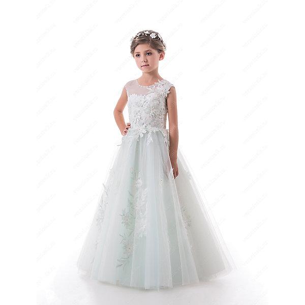 Платье нарядное для девочки ПрестижОдежда<br>Характеристики:<br><br>• Вид детской и подростковой одежды: платье<br>• Предназначение: праздничная<br>• Платье подходит для занятий бальными танцами.<br>• Коллекция: Trinity bride<br>• Сезон: круглый год<br>• Тематика рисунка: цветы<br>• Цвет: голубой<br>• Материал: 100% полиэстер<br>• Силуэт: А-силуэт<br>• Юбка: солнце<br>• Рукав: без рукава<br>• Вырез горловины: круглый<br>• Длина платья: макси<br>• Застежка: молния на спинке и шнуровка у корсета<br>• Особенности ухода: ручная стирка при температуре не более 30 градусов<br><br>Платье нарядное для девочки Престиж от отечественного производителя праздничной одежды и аксессуаров как для взрослых, так и для детей. Изделие выполнено из 100% полиэстера, который обладает легкостью, прочностью, устойчивостью к износу и пятнам. <br><br>Платье отрезное по талии, имеет классический А-силуэт и круглую горловину. Верх платья, представляющий собой корсет, имеет застежку-молнию и шнуровку на спинке, что обеспечивает хорошую посадку платья по фигуре. Классический стиль платья дополнен эффектными деталями и декором. Объемные вышитые цветы, украшающие переднюю полочку и пояс, придают изделию особую торжественность, цветочные элементы повторяются и на длинной пышной юбке. Стразы, украшающие горловину, вырез рукавов и переднюю полочку, создают эффект мягкого мерцания и законченности торжественного образа. <br><br>Платье нарядное для девочки Престиж – это неповторимый стиль вашей девочки на любом торжестве!<br><br>Платье нарядное для девочки Престиж можно купить в нашем интернет-магазине.<br><br>Ширина мм: 236<br>Глубина мм: 16<br>Высота мм: 184<br>Вес г: 177<br>Цвет: голубой<br>Возраст от месяцев: 84<br>Возраст до месяцев: 96<br>Пол: Женский<br>Возраст: Детский<br>Размер: 128,116,122<br>SKU: 5387733