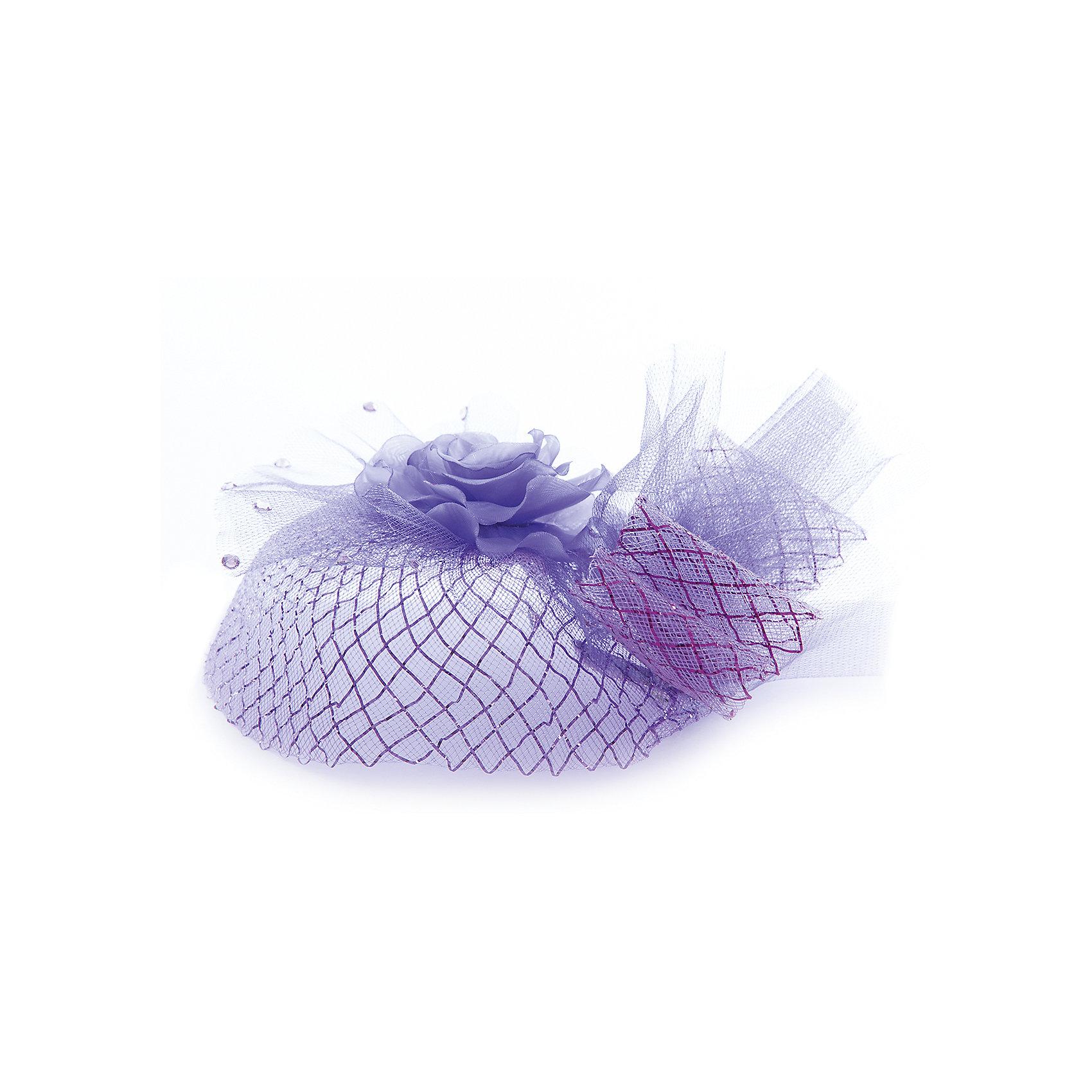 Шляпа для девочки ПрестижАксессуары<br>Характеристики:<br><br>• Вид аксессуара: шляпка-заколка<br>• Пол: для девочки<br>• Предназначение: праздничное<br>• Коллекция: IP<br>• Сезон: круглый год<br>• Цвет: фиолетовый, белый<br>• Крепится за счет зажимов<br>• Материал: текстиль, металл<br>• Особенности ухода: сухая чистка<br><br>Украшение для волос для девочки Престиж от отечественного производителя, который специализируется на выпуске праздничной одежды и аксессуаров как для взрослых, так и для детей. Изделие выполнено из текстиля и бижутерного сплава. Все материалы хорошо держат и сохраняют форму, не вызывают аллергических реакций. Шляпка крепится к волосам за счет двух зажимов, что обеспечивает ее надежную фиксацию. Шляпка выполнена в виде большой розы, декорирована вуалеткой и стразами.<br><br>Шляпа для девочки Престиж не только дополнит праздничный образ юной леди, но и сделает его особенным и стильным!<br><br>Шляпу для девочки Престиж можно купить в нашем интернет-магазине.<br><br>Ширина мм: 89<br>Глубина мм: 117<br>Высота мм: 44<br>Вес г: 155<br>Цвет: лиловый<br>Возраст от месяцев: 60<br>Возраст до месяцев: 168<br>Пол: Женский<br>Возраст: Детский<br>Размер: one size<br>SKU: 5387783
