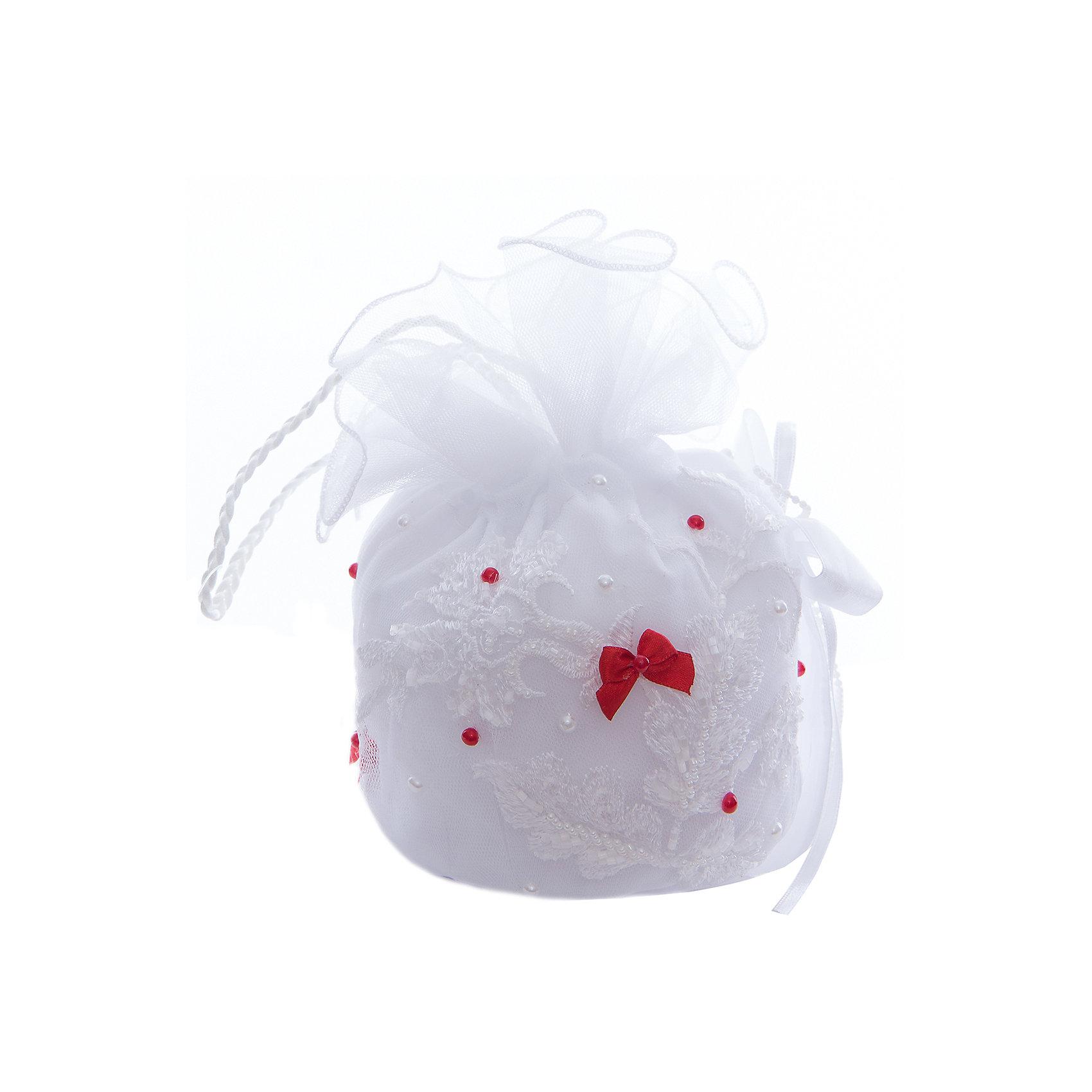 Сумочка для девочки ПрестижХарактеристики:<br><br>• Вид аксессуара: сумочка<br>• Пол: для девочки<br>• Предназначение: вечерняя<br>• Коллекция: IP<br>• Сезон: круглый год<br>• Цвет: белый, красный<br>• Материал: текстиль, кружево, фатин<br>• Особенности ухода: сухая чистка<br><br>Сумочка для девочки Престиж от отечественного производителя, который специализируется на выпуске праздничной одежды и аксессуаров как для взрослых, так и для детей. Изделие выполнено из сочетания текстиля, фатина, атласных лент. Все материалы хорошо держат и сохраняют форму, не вызывают аллергических реакций. У сумочки предусмотрена ручка. Декорирована стразами и бусинами.<br><br>Сумочка для девочки Престиж не только дополнит праздничный образ юной леди, но и сделает его изысканным и стильным!<br><br>Сумочку для девочки Престиж можно купить в нашем интернет-магазине.<br><br>Ширина мм: 170<br>Глубина мм: 157<br>Высота мм: 67<br>Вес г: 117<br>Цвет: красный<br>Возраст от месяцев: 60<br>Возраст до месяцев: 168<br>Пол: Женский<br>Возраст: Детский<br>Размер: one size<br>SKU: 5387795